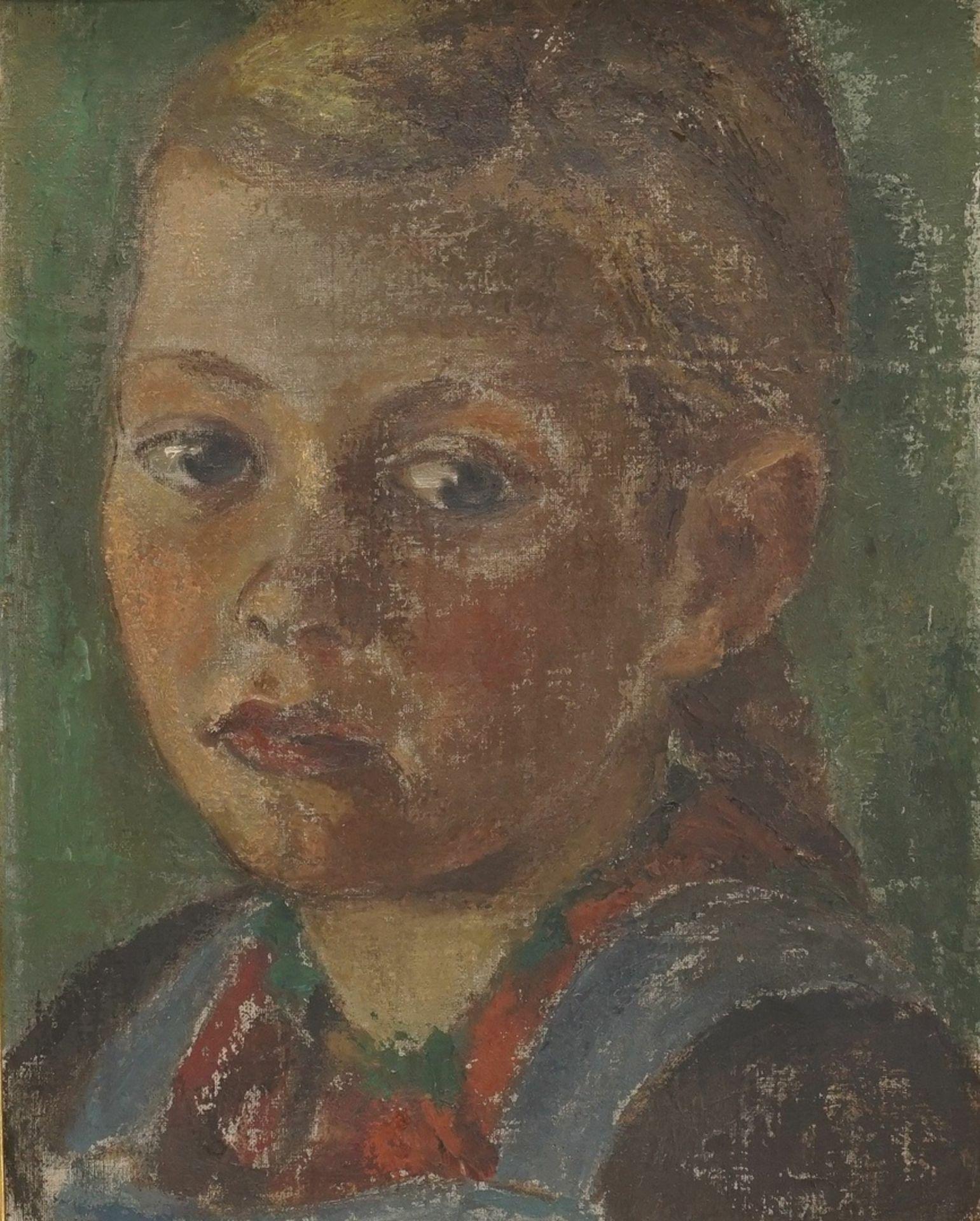 """Unbekannter Maler der frühen Moderne, """"Mädchenbildnis"""""""