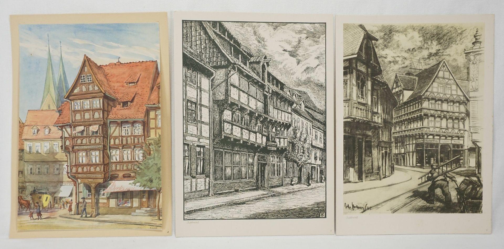 Kunstdruckmappe und Postkarten, Halberstadt am Harz - Bild 5 aus 7