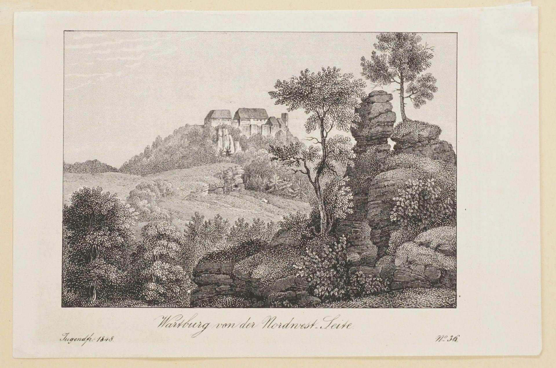 Drei Blatt zur Wartburg bei Eisenach - Bild 4 aus 4