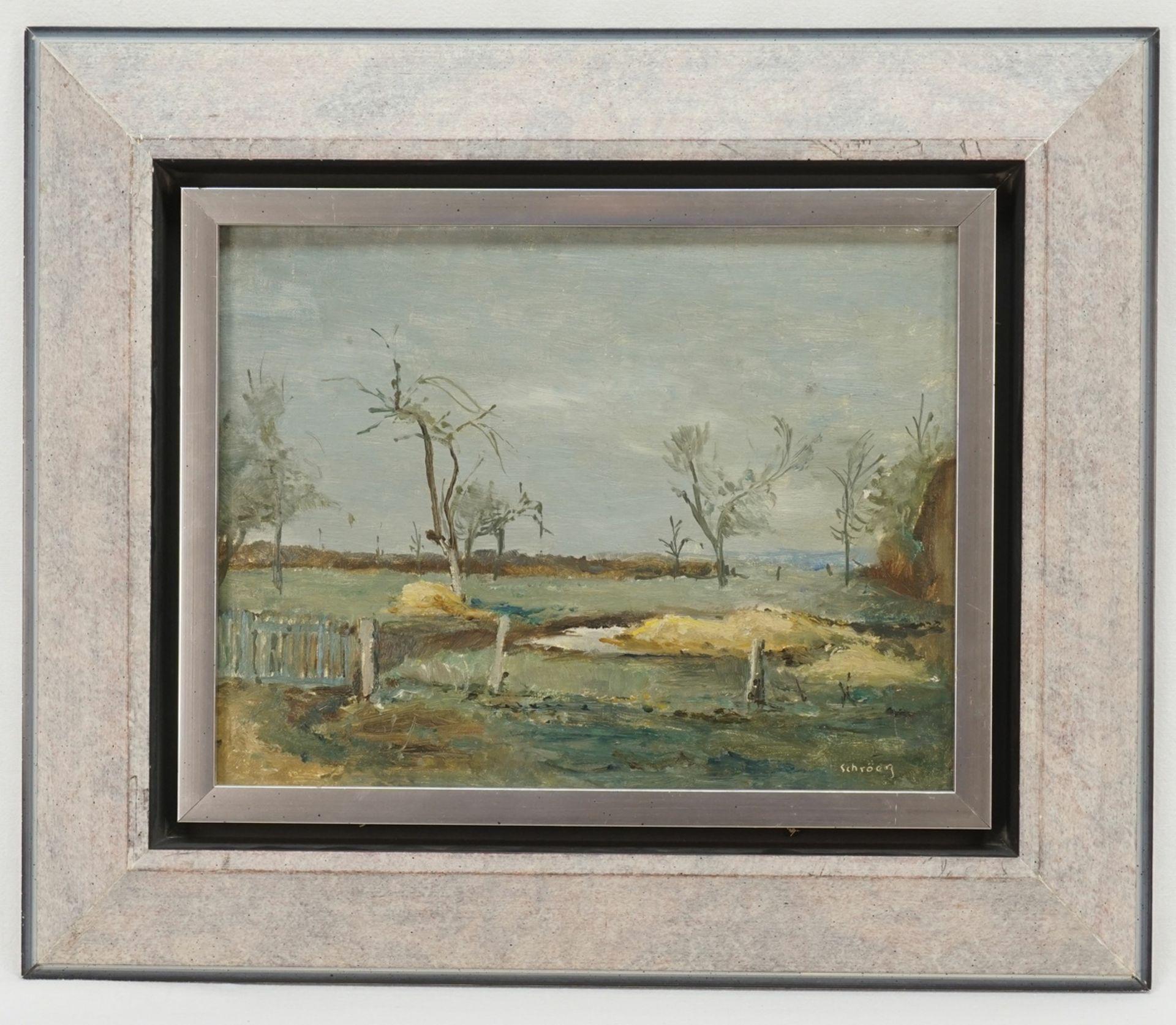 """Hans Schröers, """"Kleine Landschaft mit Zaun"""" - Bild 2 aus 4"""