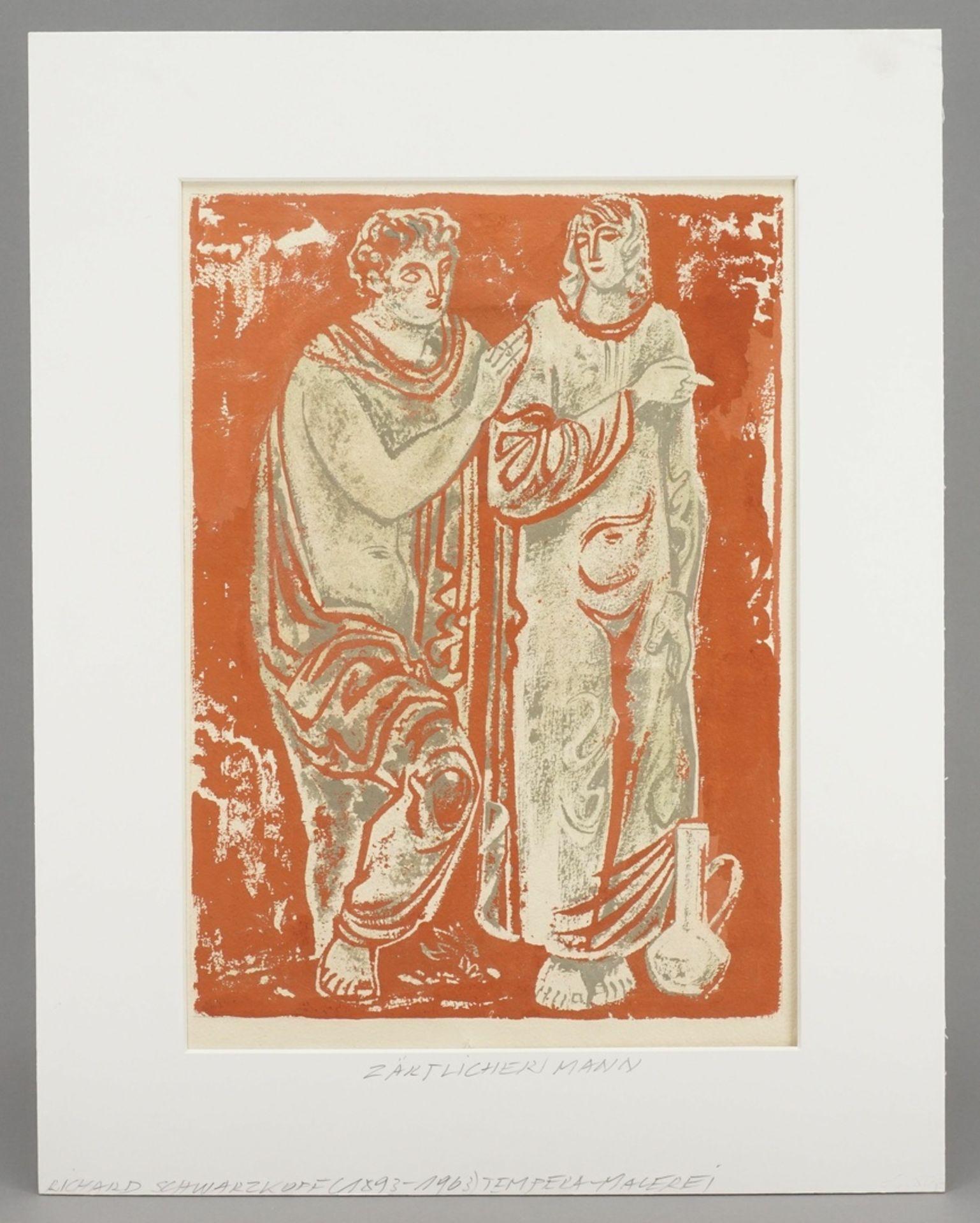 Richard Schwarzkopf, Figurenpaar mit Tonkrug (Isaak und Rebekka ) - Bild 2 aus 5