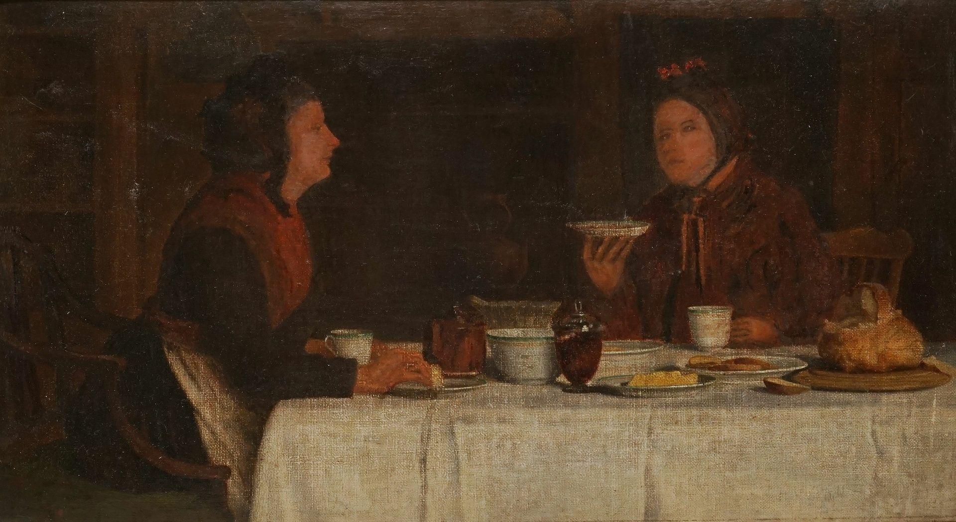 Henry Edward Spernon Tozer, Zwei Damen beim Tee