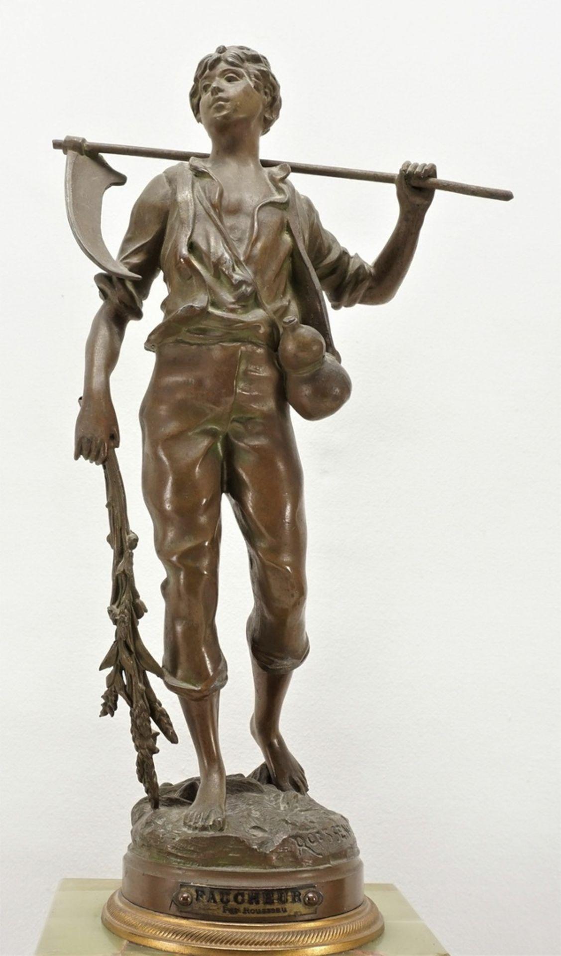 Französische 3-teilige Figurenpendule, 2. Hälfte 19. Jh. - Bild 5 aus 9