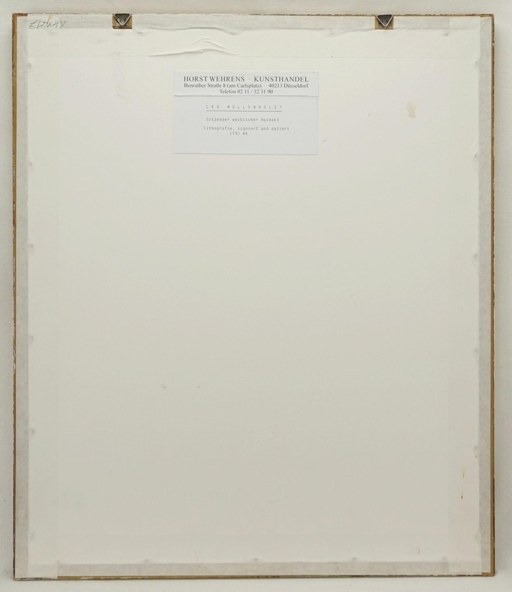 Leo Mühlenholz, Sitzender weiblicher Akt, sich die Beine trocknend - Bild 3 aus 4