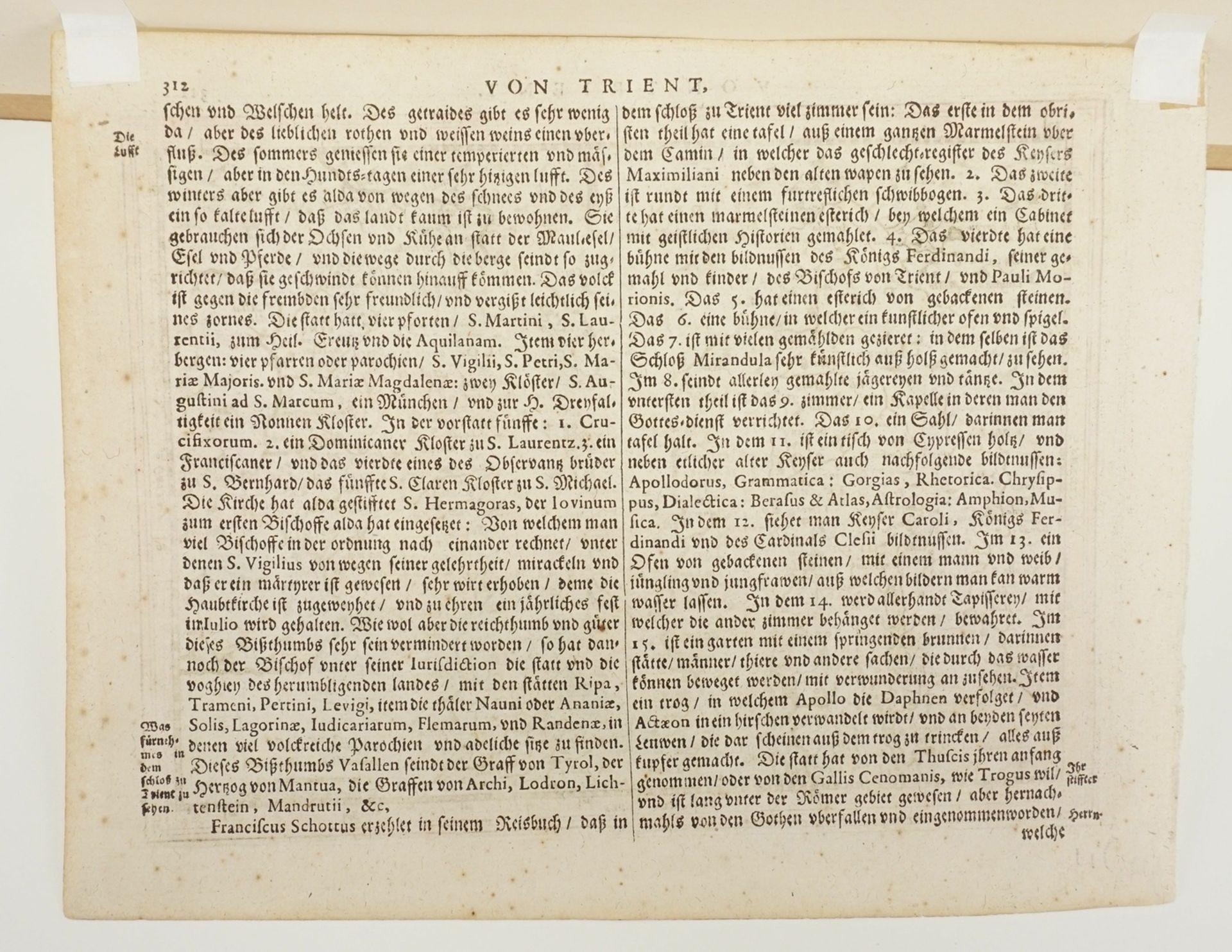 """Gerhard Mercator, """"Von Trient / Territorio di Trento"""" (Landkarte der Gegend um Trient, Südtirol) - Bild 4 aus 4"""