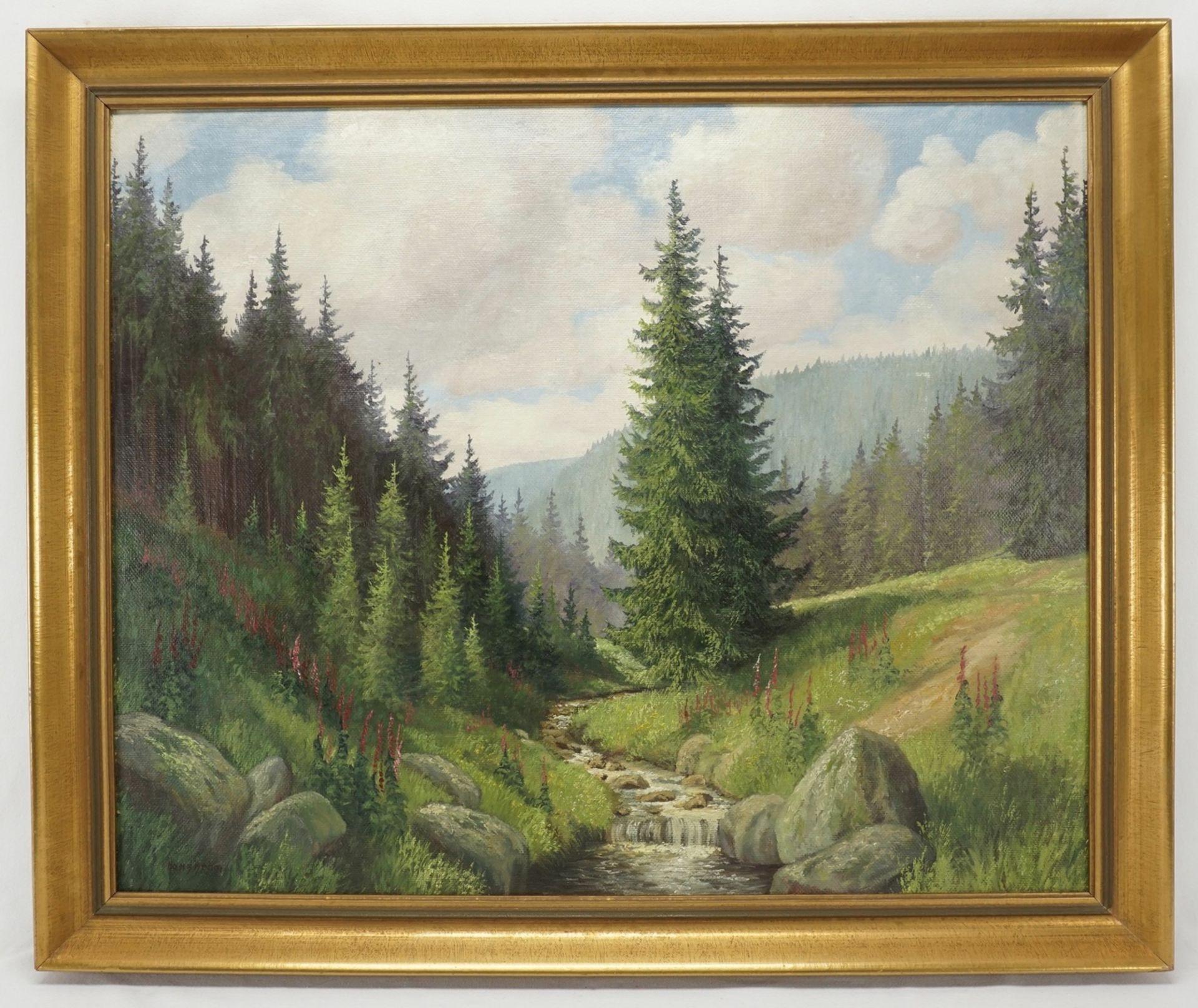 """Hans Böhm, """"Sommermorgen im Harz (Im Thumkuhlental bei Wernigerode)"""" - Bild 2 aus 4"""