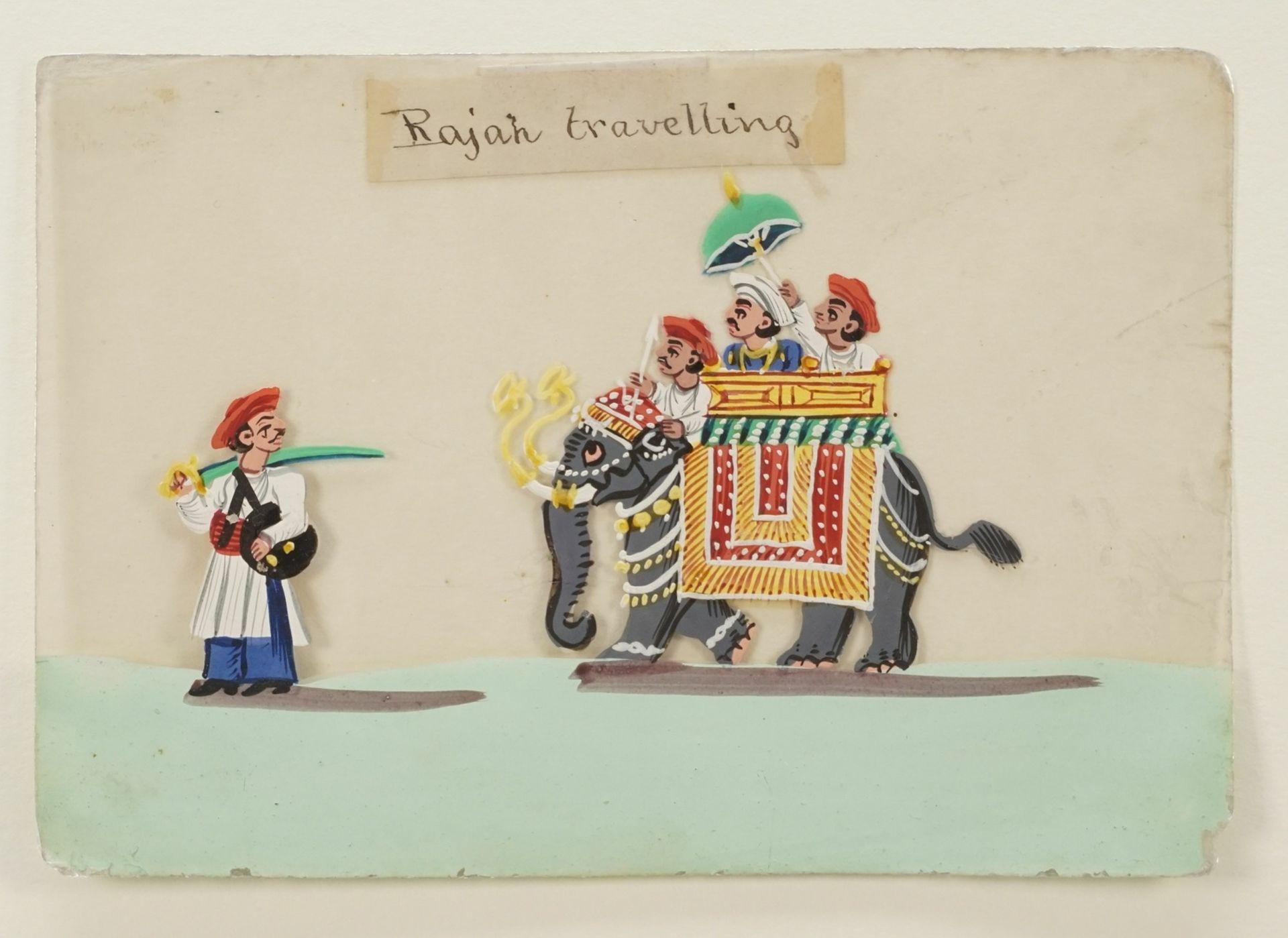 """Indischer Künstler, """"Rajah travelling (Der Maharadscha auf Reisen)"""" - Bild 3 aus 3"""