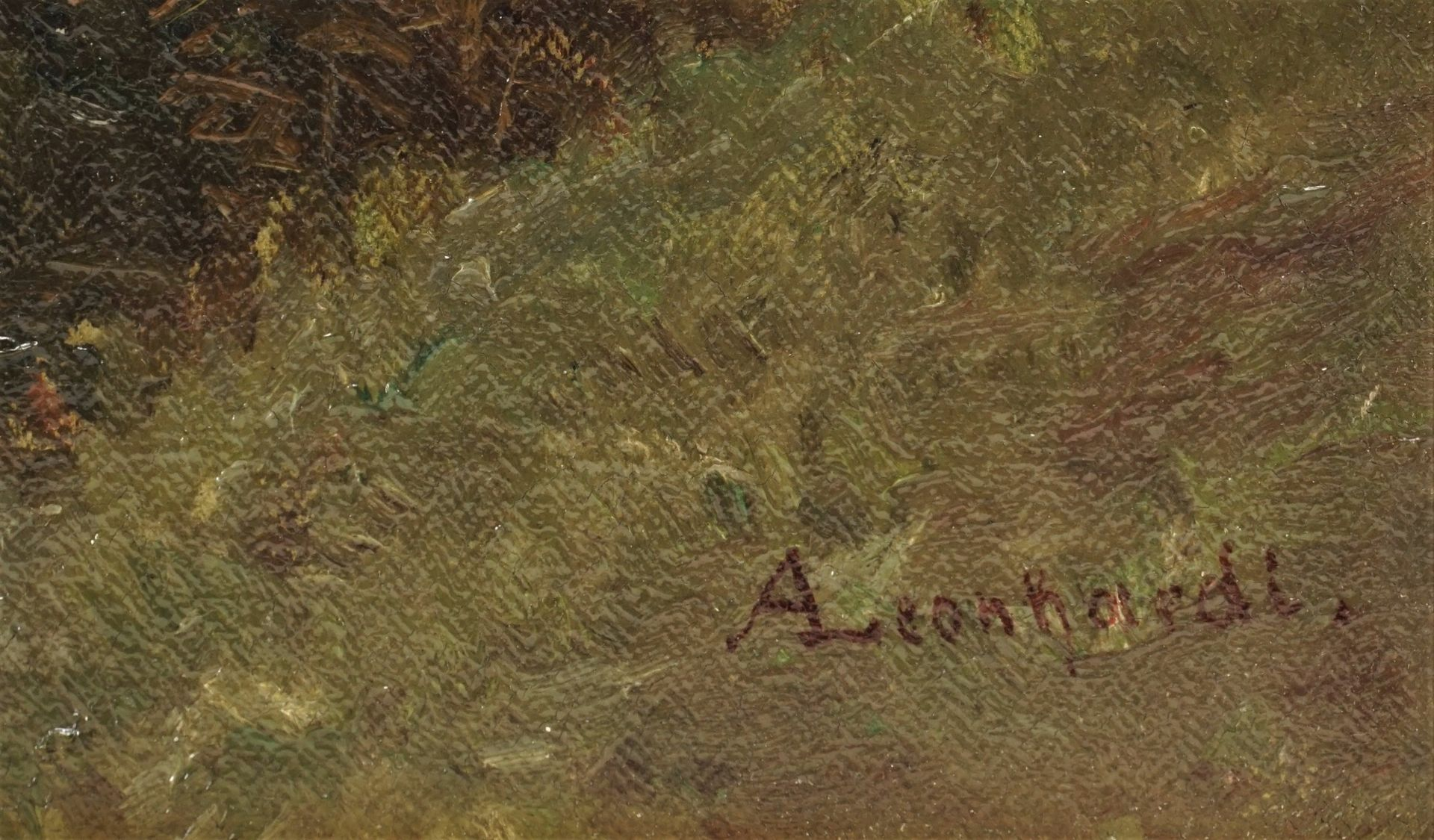 """August Leonhardi, """"Erlen am Bach"""" - Bild 4 aus 4"""