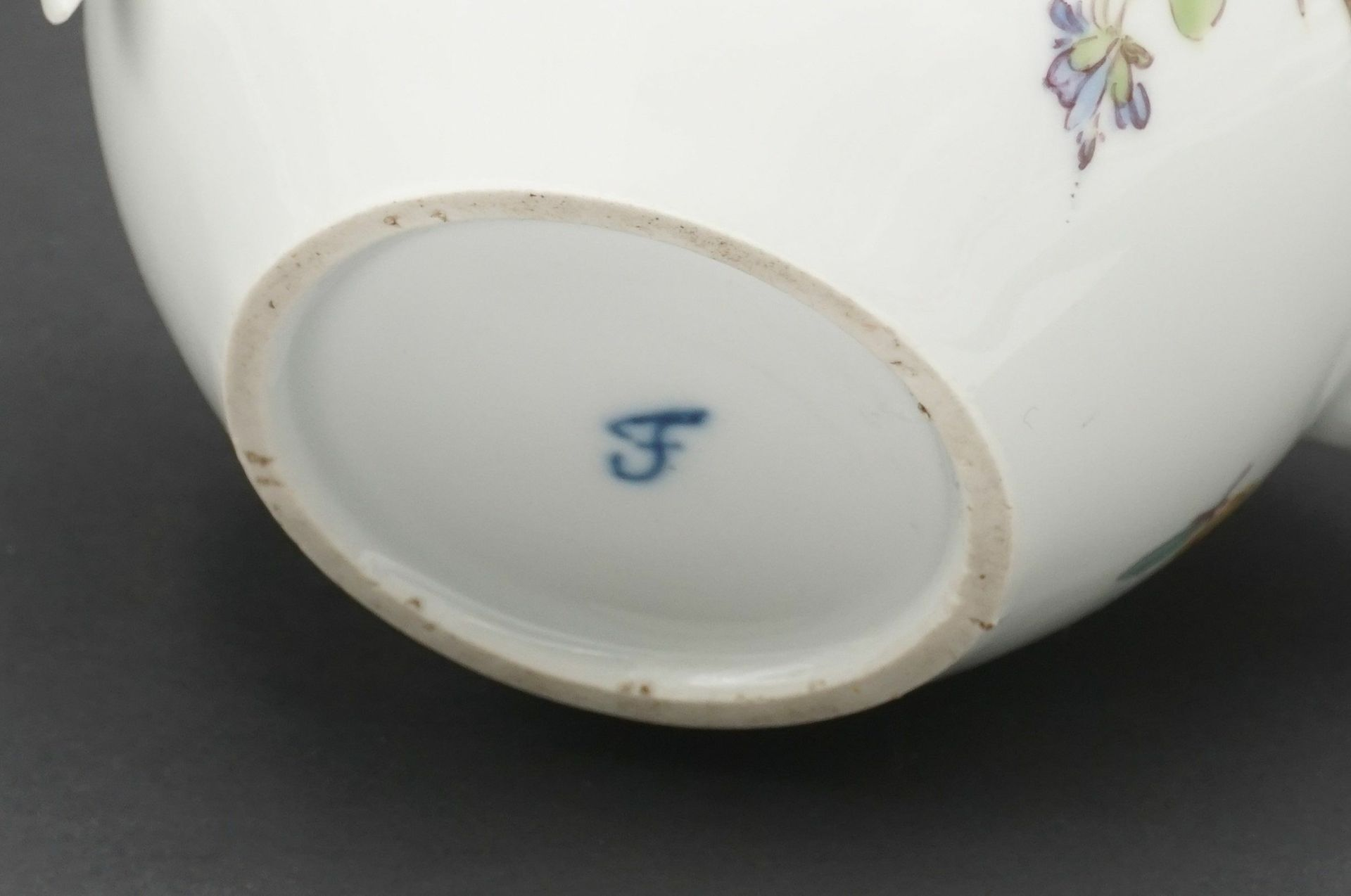 Fürstenberg Teekanne mit Blumenmalerei - Bild 3 aus 4