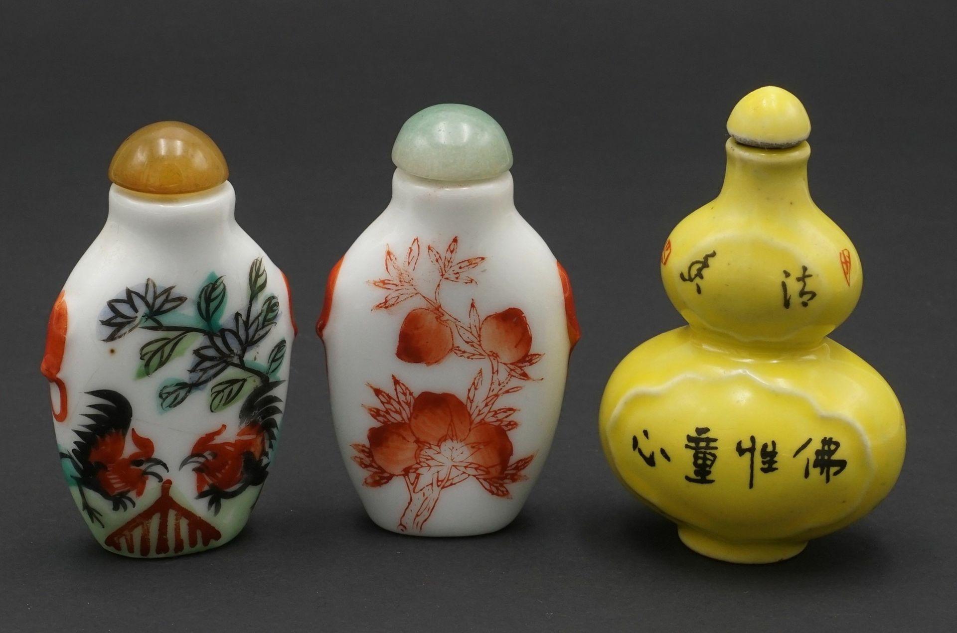 Sieben Snuff Bottles, China - Bild 5 aus 5