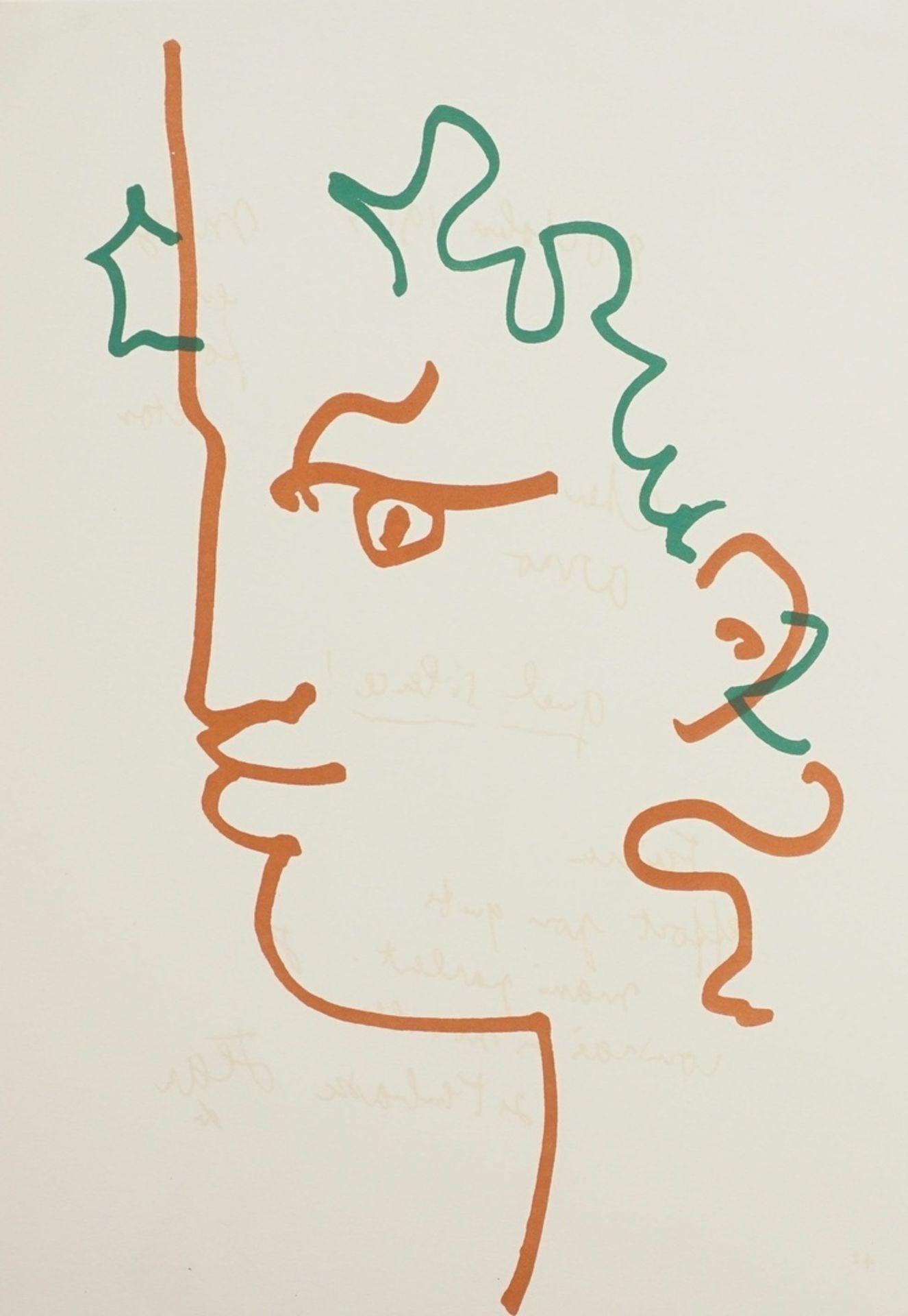 """Jean Cocteau, """"Kopf eines Fauns"""""""
