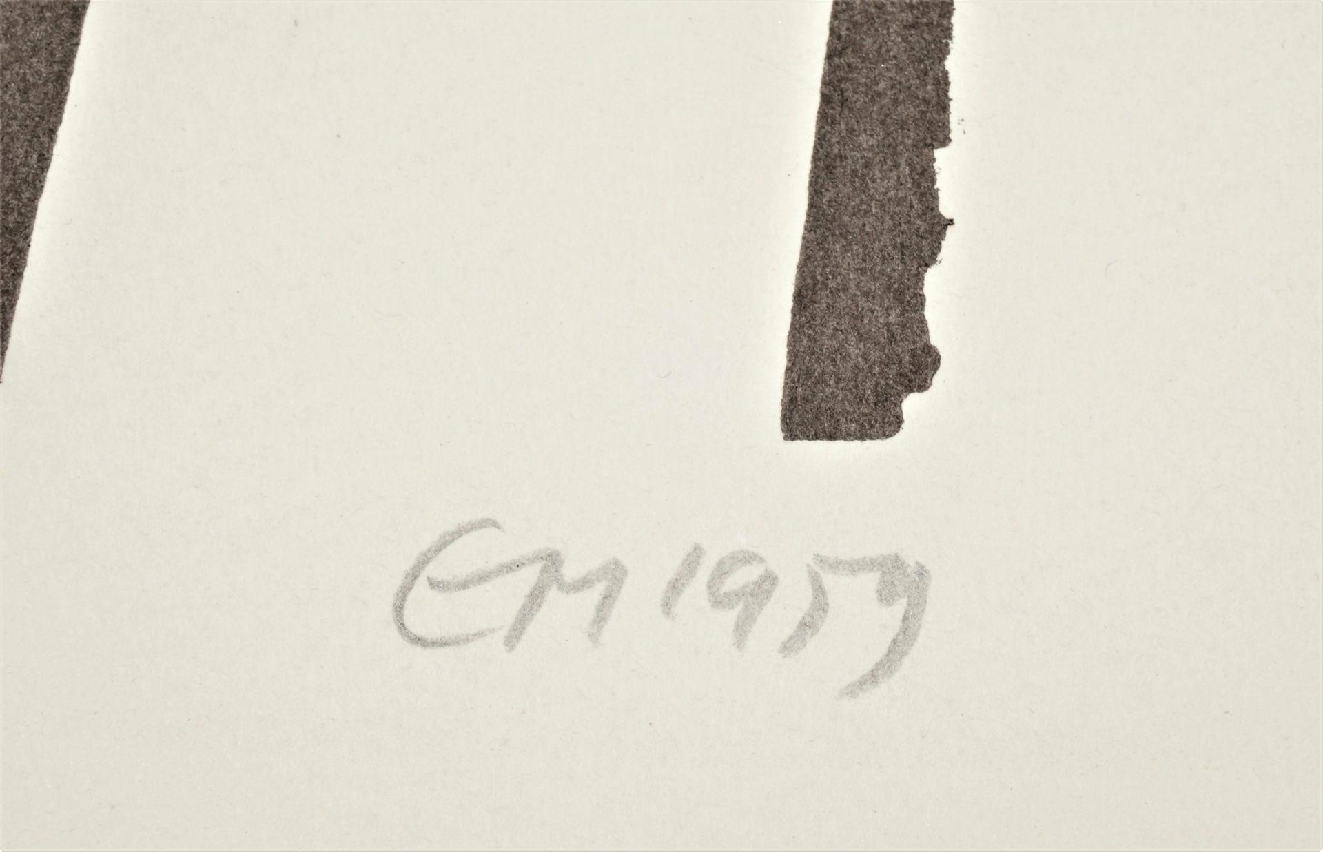 Monogrammist EM, Blick über Dächer auf eine russisch-orthodoxe Kirche - Bild 4 aus 4
