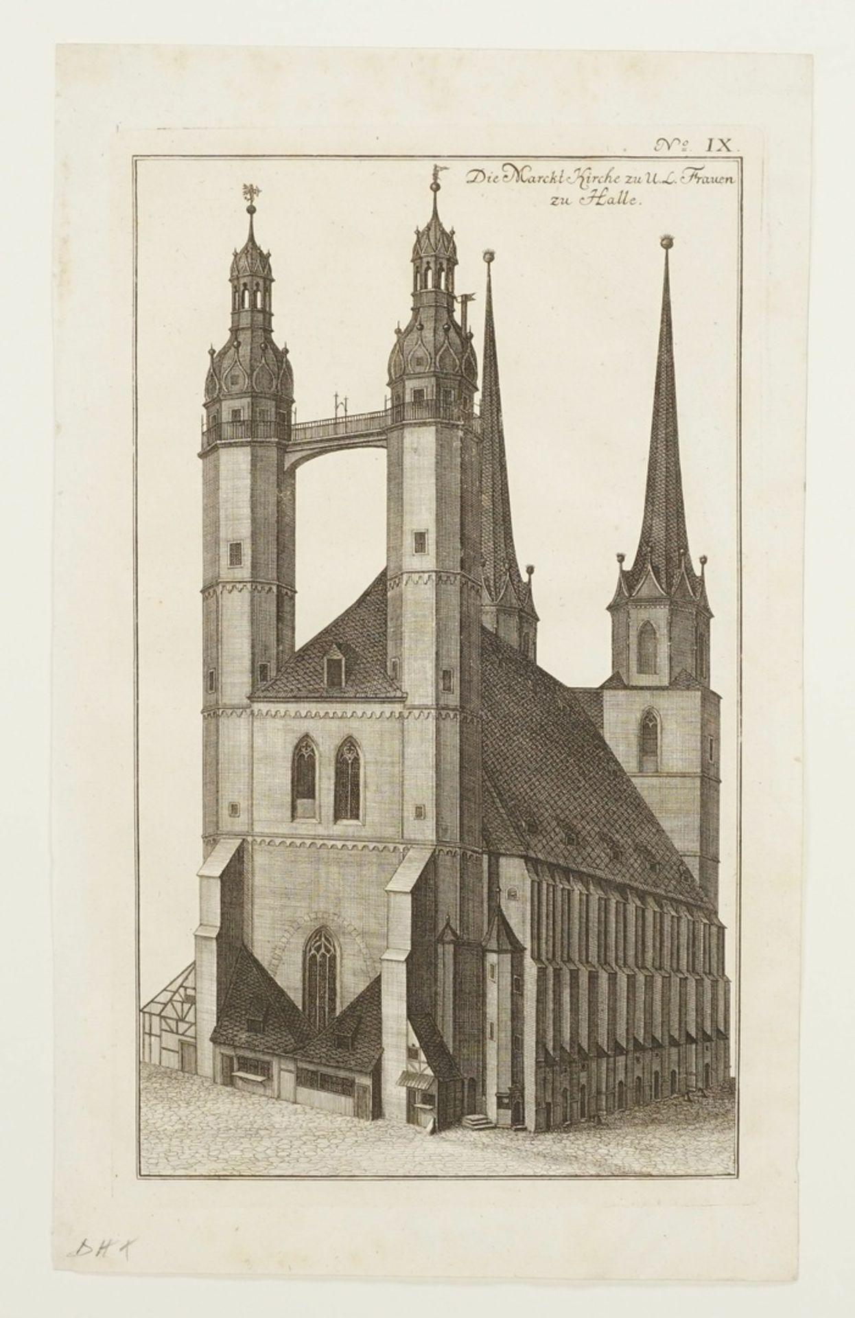 Johann Gottfried Krügner der Jüngere, Drei herausragende Bauwerke der Stadt Halle/Saale - Bild 4 aus 4