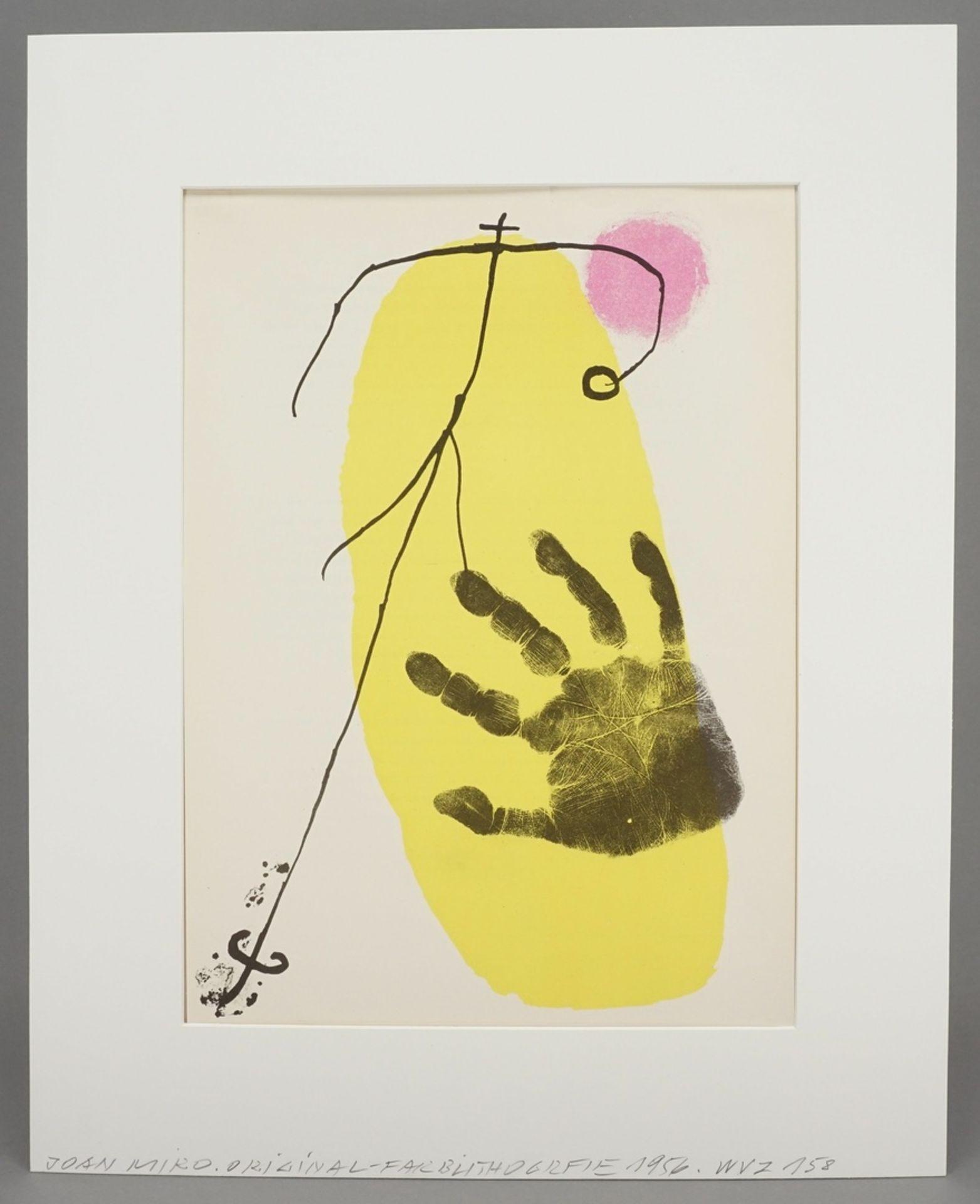 Joan Miró, Hand vor Gelb (aus: Derrière le Miroir) - Bild 2 aus 4