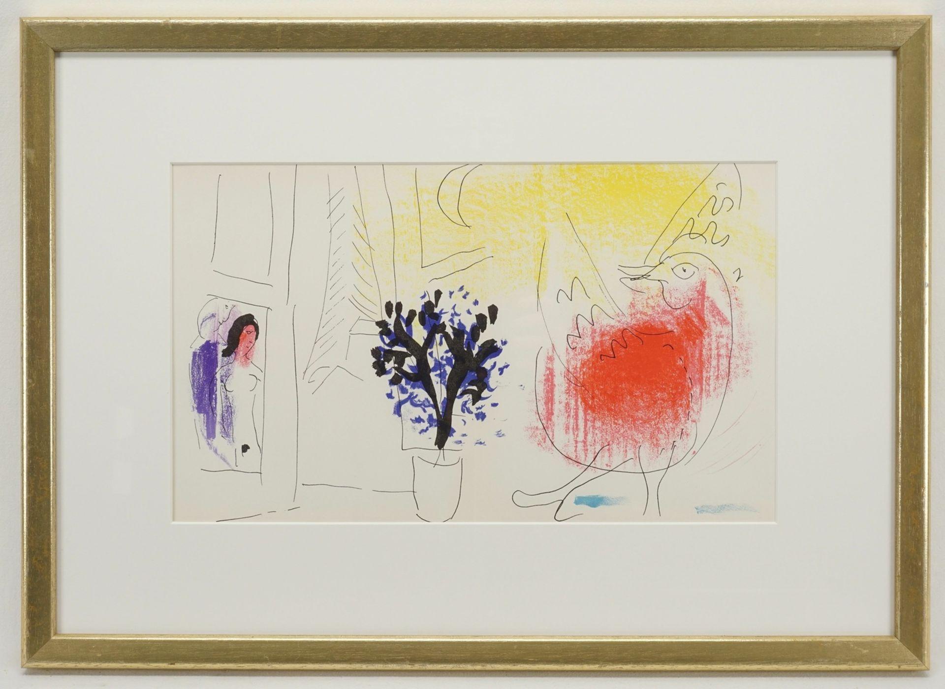 "Marc Chagall, ""Le coq rouge"" (Der rote Hahn) - Bild 2 aus 2"