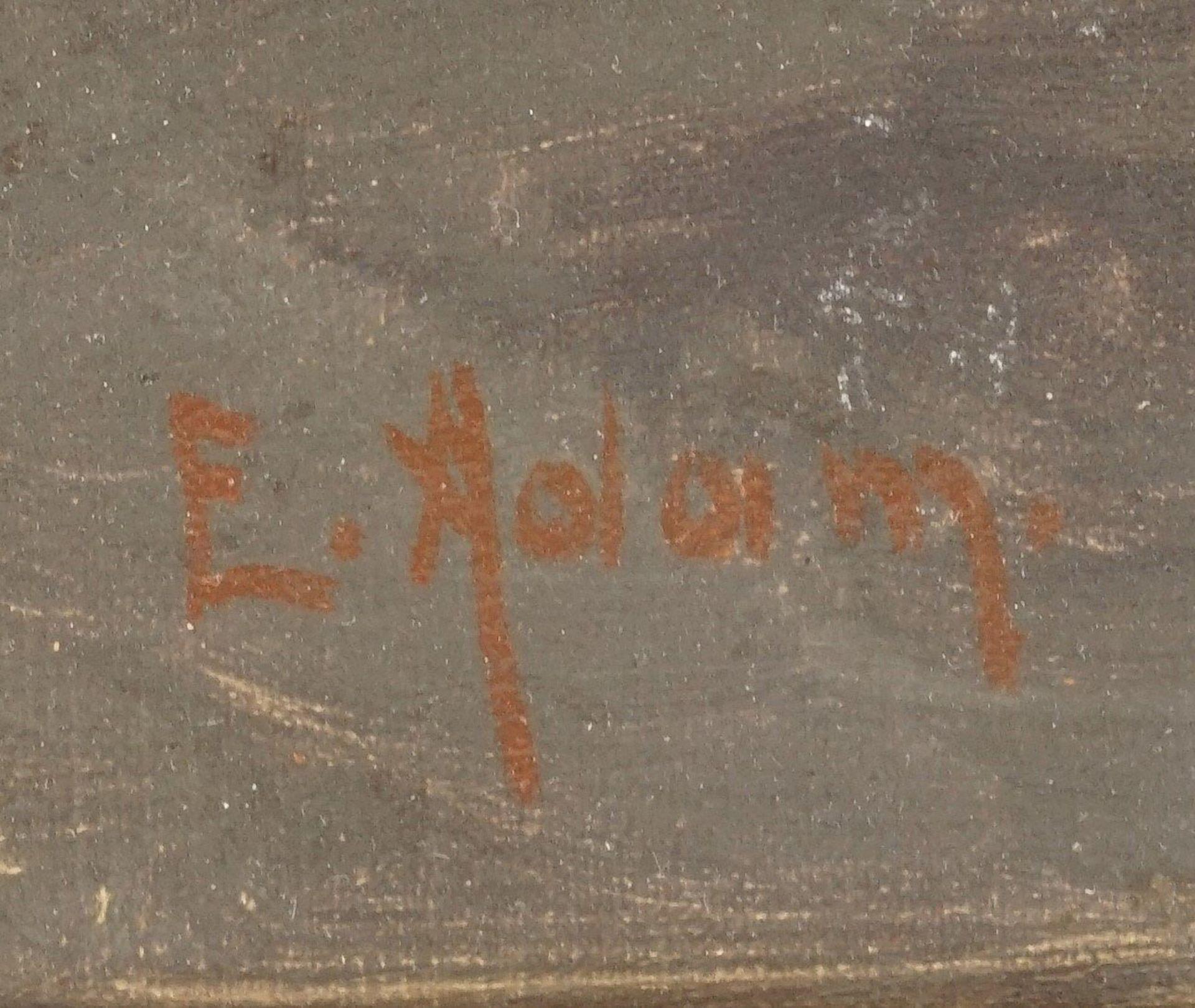 """Emmy Adam, """"Früchtestillleben mit Trauben, Pfirsichen und Ananas"""" - Bild 4 aus 4"""