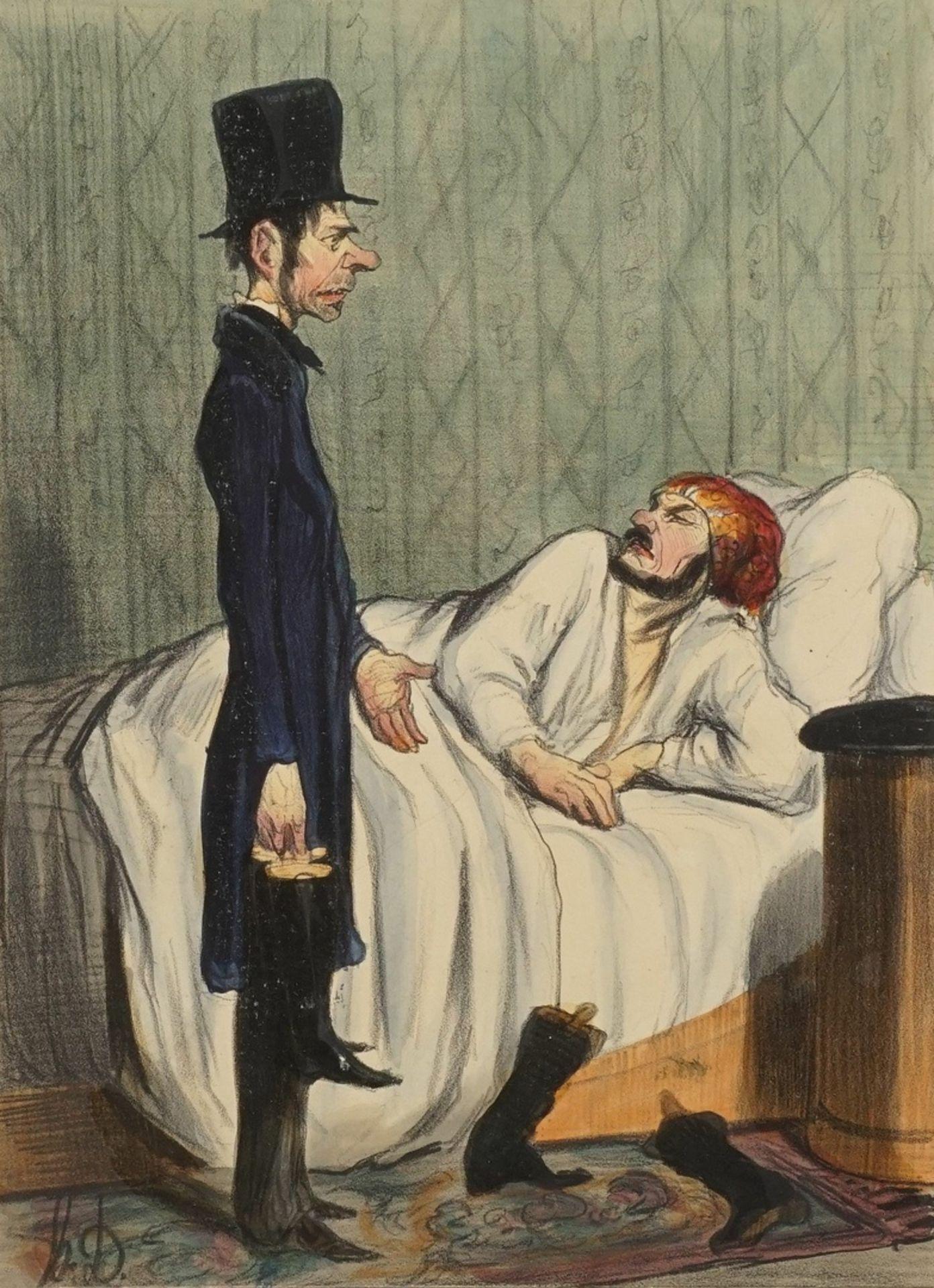 """Honoré Daumier, """"Visite matinale d'un Créancier à propos de Bottes"""" (Morgendlicher Besuch ..."""