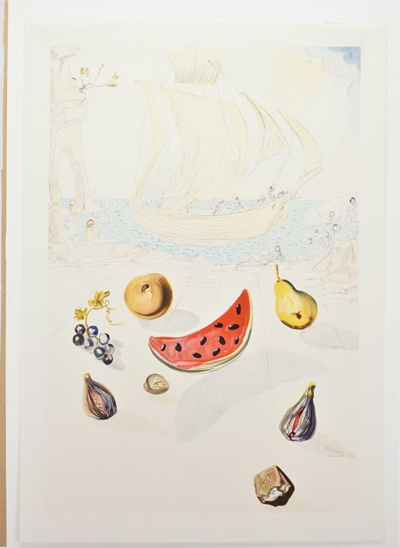 """Salvador Dalí, """"Ship and fruits"""" (Schiff und Früchte) - Bild 3 aus 3"""