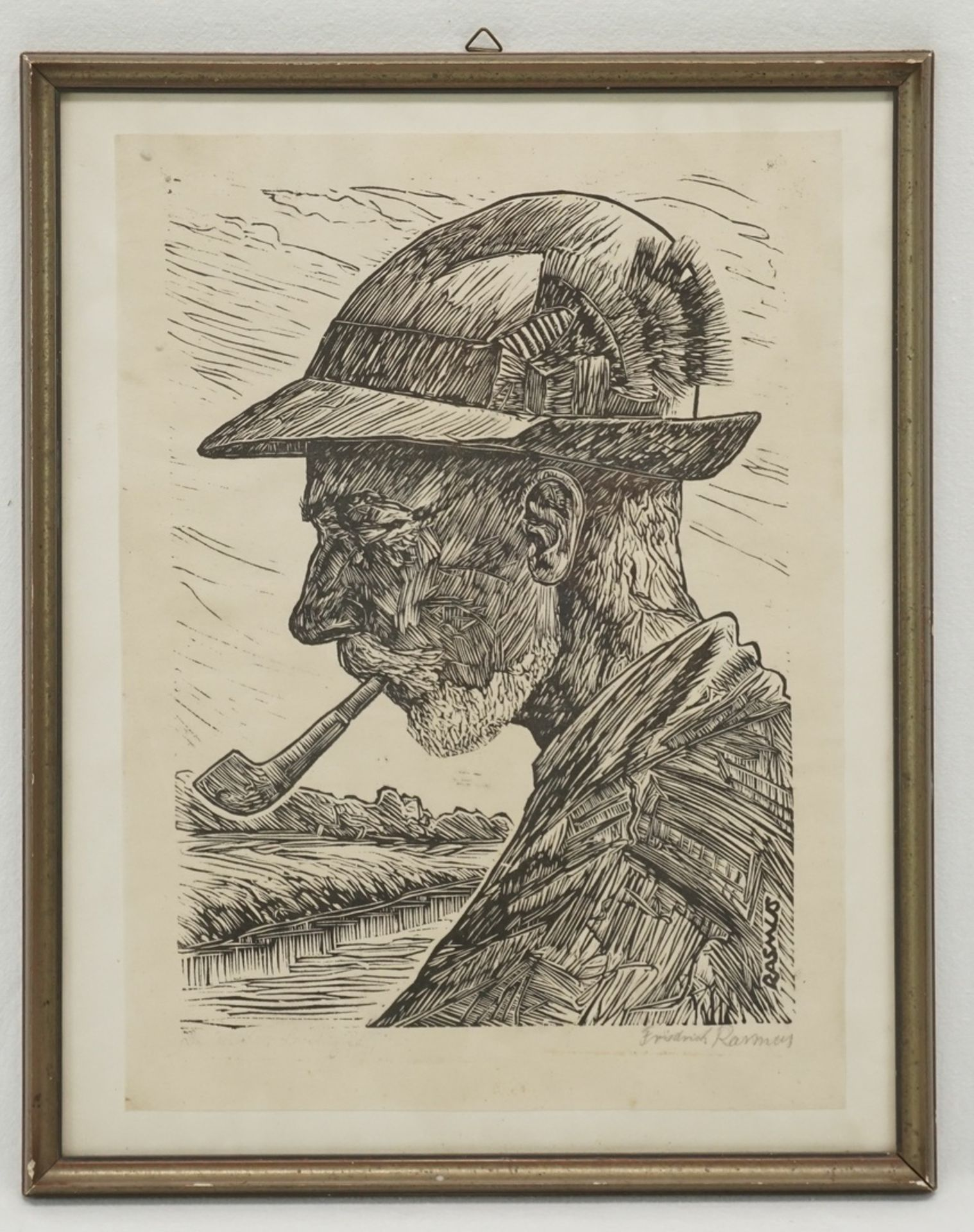 Claus Friedrich Rasmus, Portrait von Benedix Passig - Bild 2 aus 4