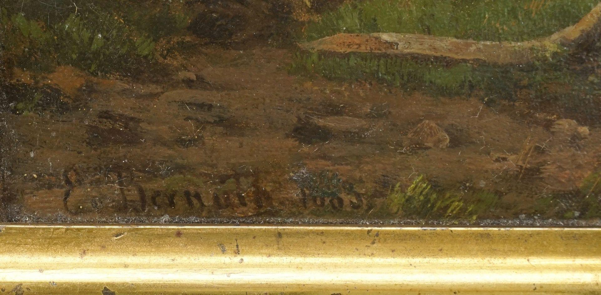 Ernst Philipp von Bernuth, Zwei Jungen beim Angeln - Bild 4 aus 4