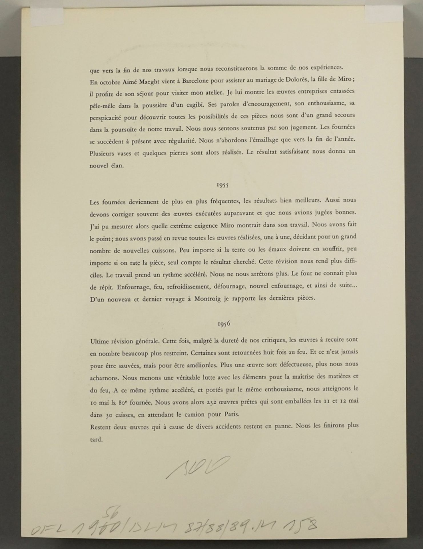 Joan Miró, Hand vor Gelb (aus: Derrière le Miroir) - Bild 4 aus 4