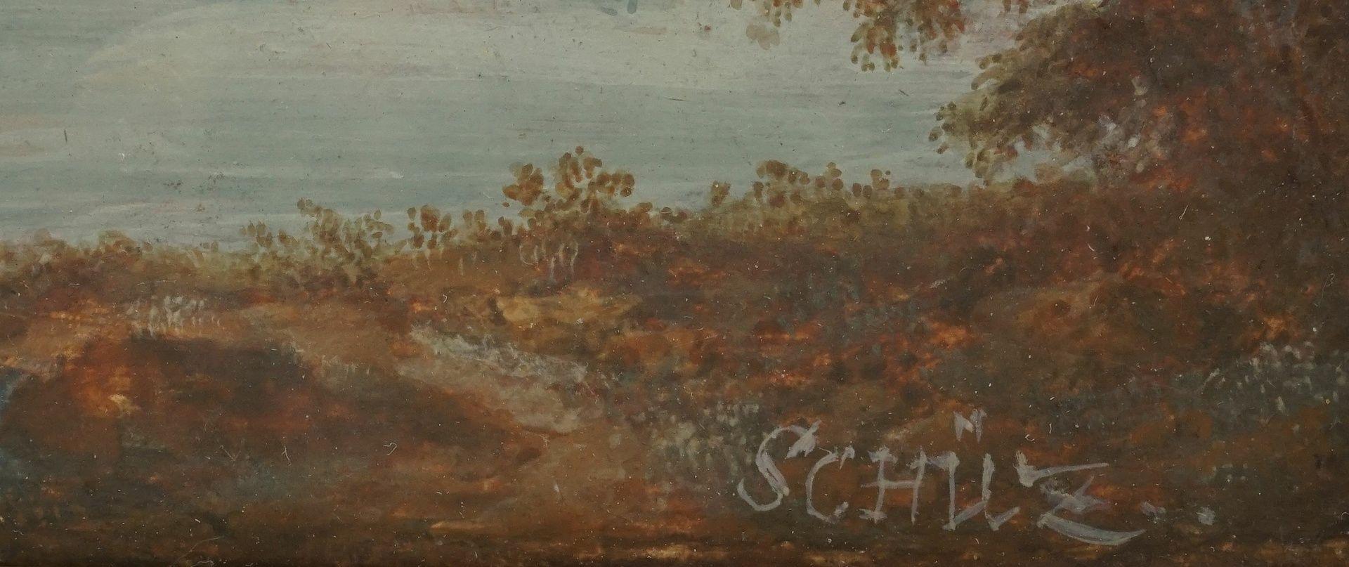 """Christian Georg Schütz der Ältere, """"Flusslandschaft mit Nachen und Schäfer"""" - Bild 4 aus 4"""