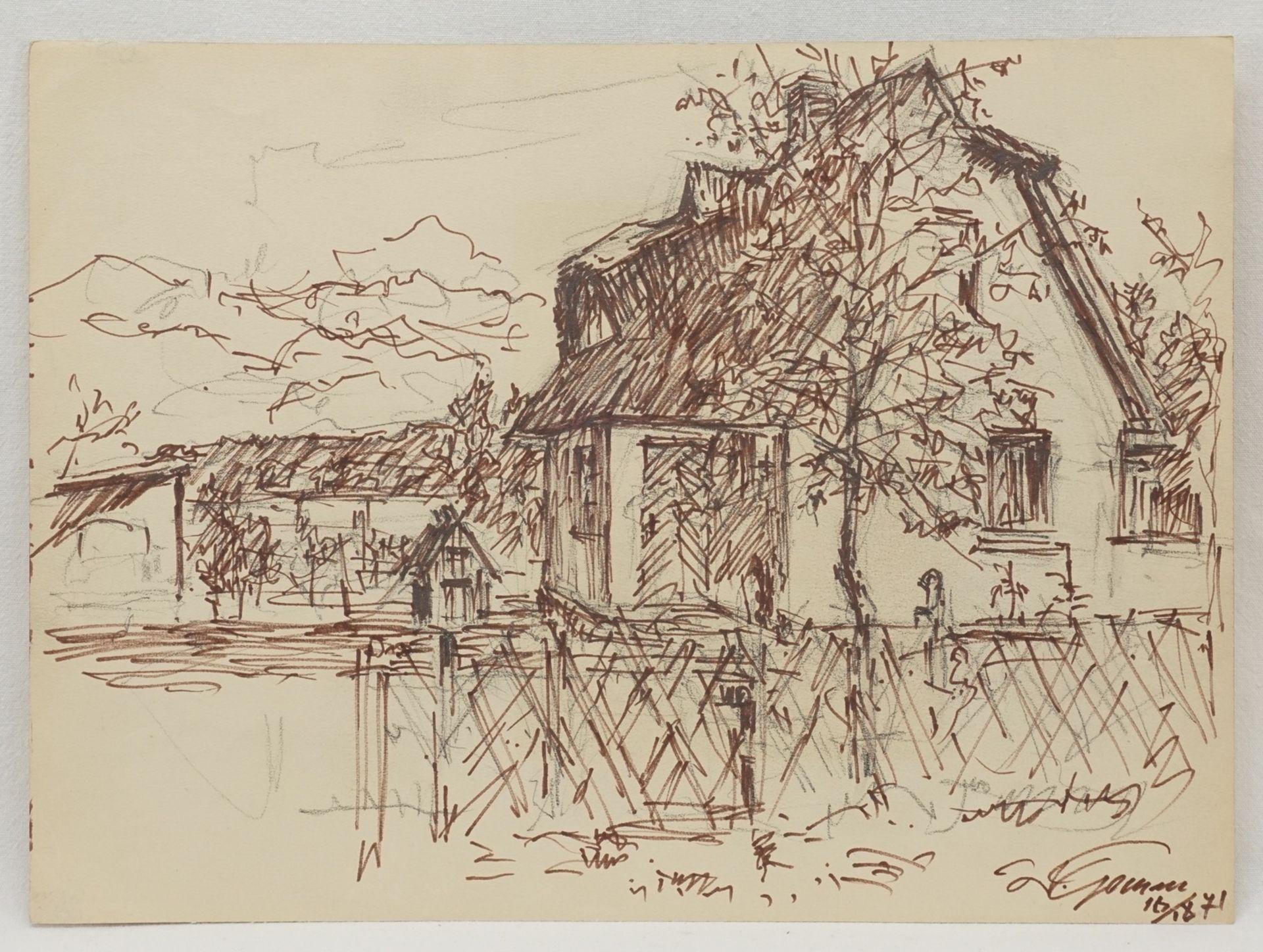 Walter Gemm, zwei Ortsbilder Dierhagen - Bild 3 aus 4