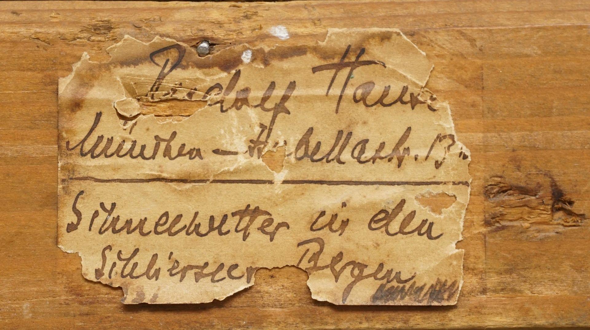 """Rudolf Hause, """"Schneewetter in den Schlierseer Bergen"""" - Bild 4 aus 4"""