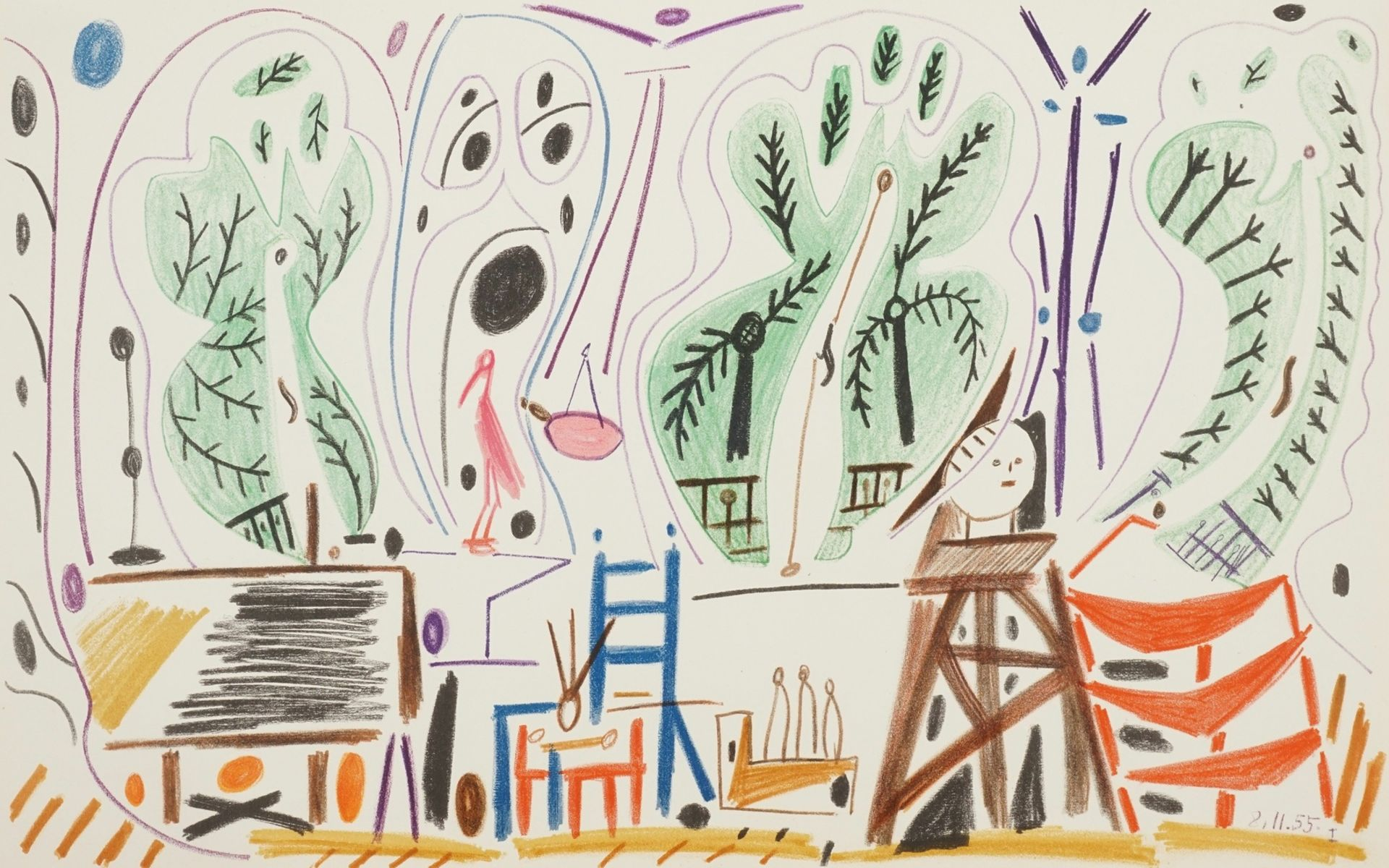 Pablo Picasso, Atelierszene (La Californie)