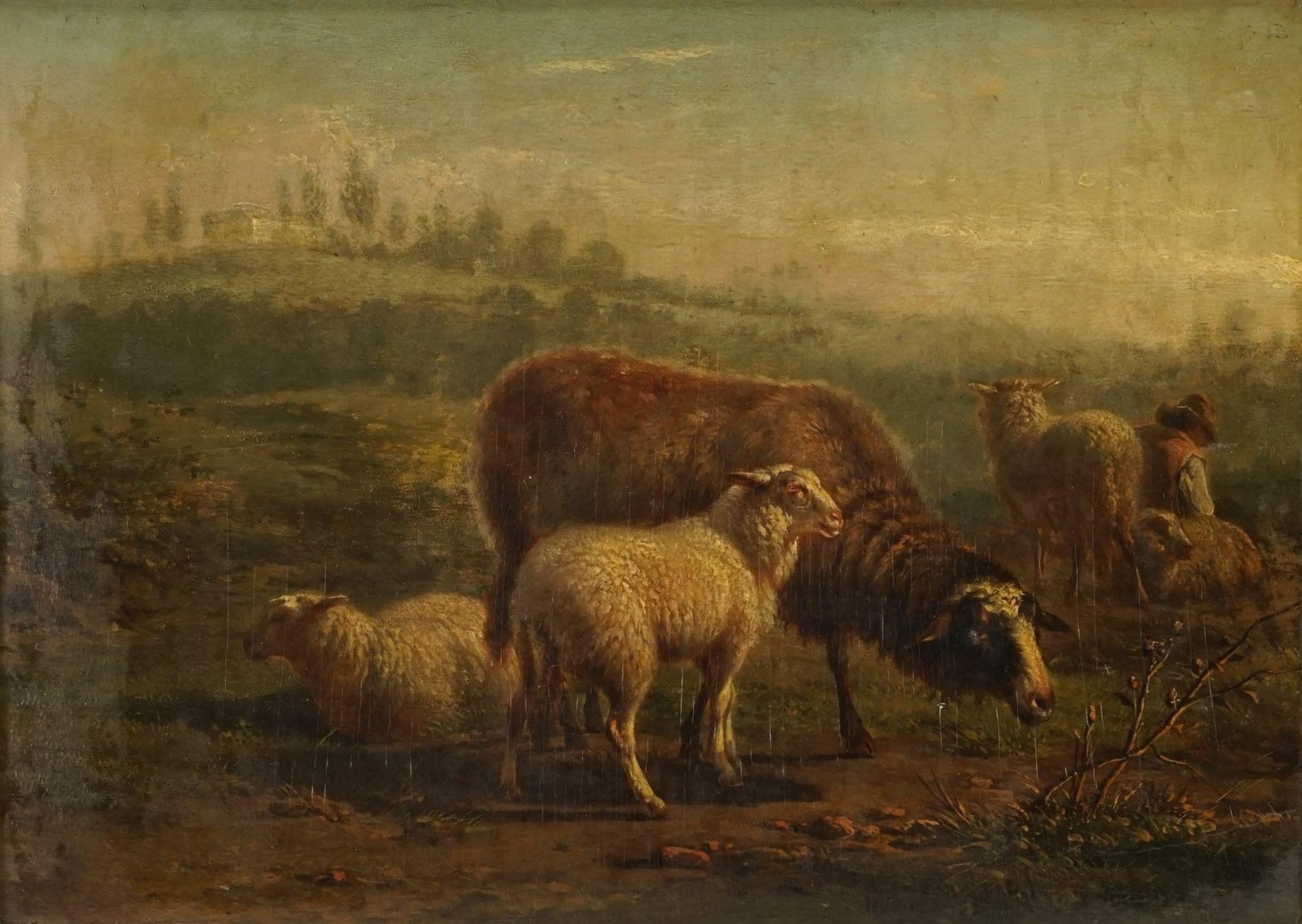 Eugène Verboeckhoven, Schafe mit Schäfer - Bild 2 aus 3