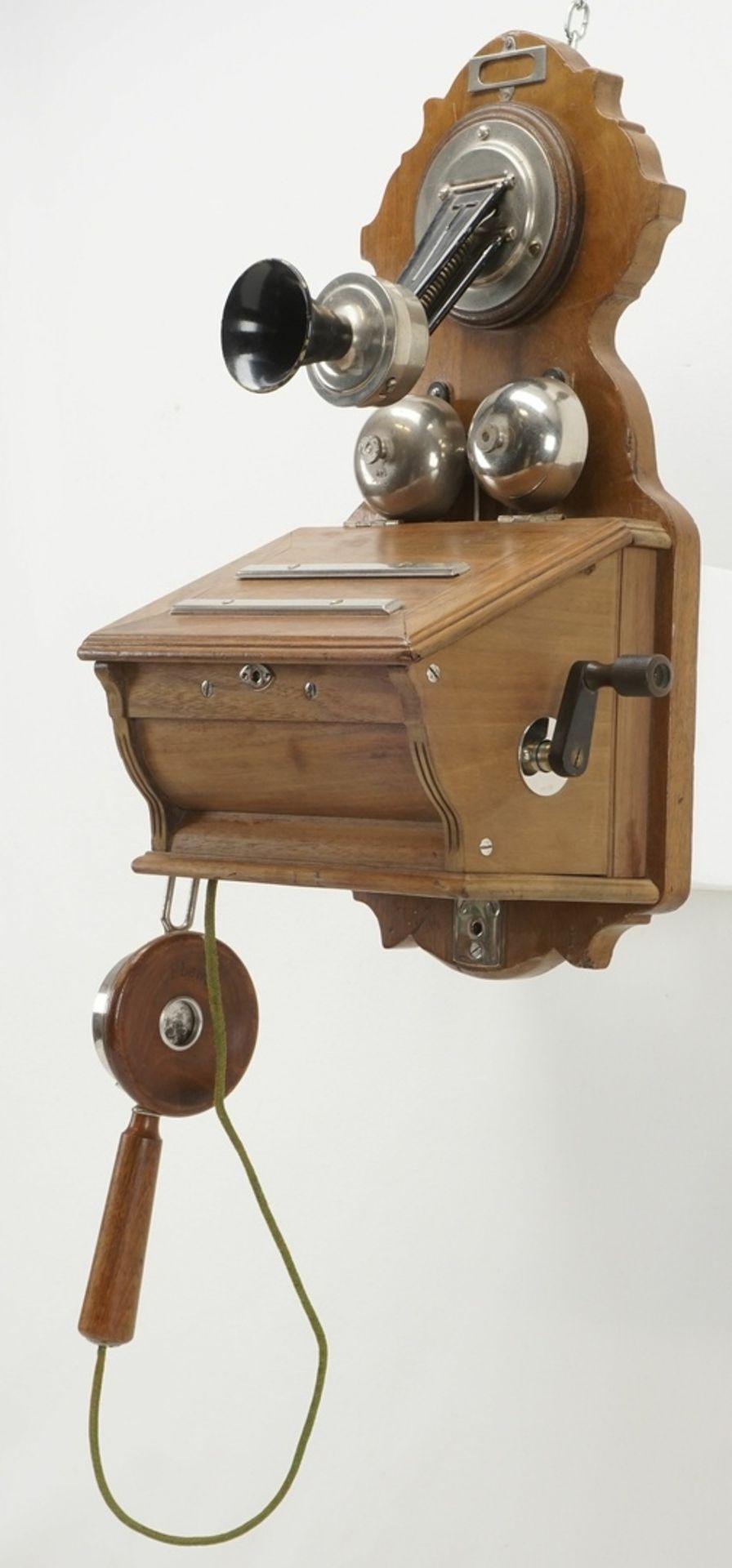 F. Schuchhardt Wandtelefon OB 04, um 1900 - Bild 2 aus 5