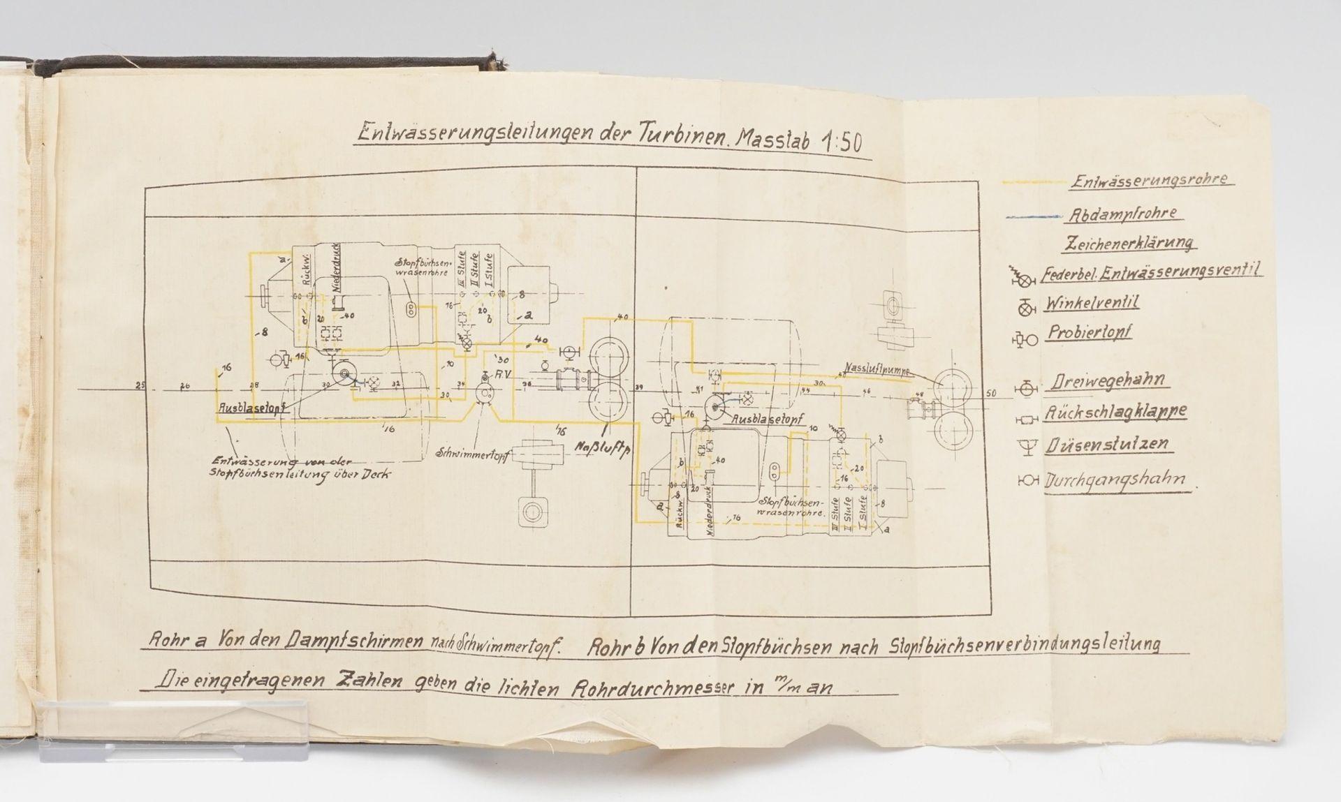 Howaldtswerke Kiel, Beschreibung und Bedienungsvorschrift für die Turbinen–Anlage S. M. ... - Bild 4 aus 4
