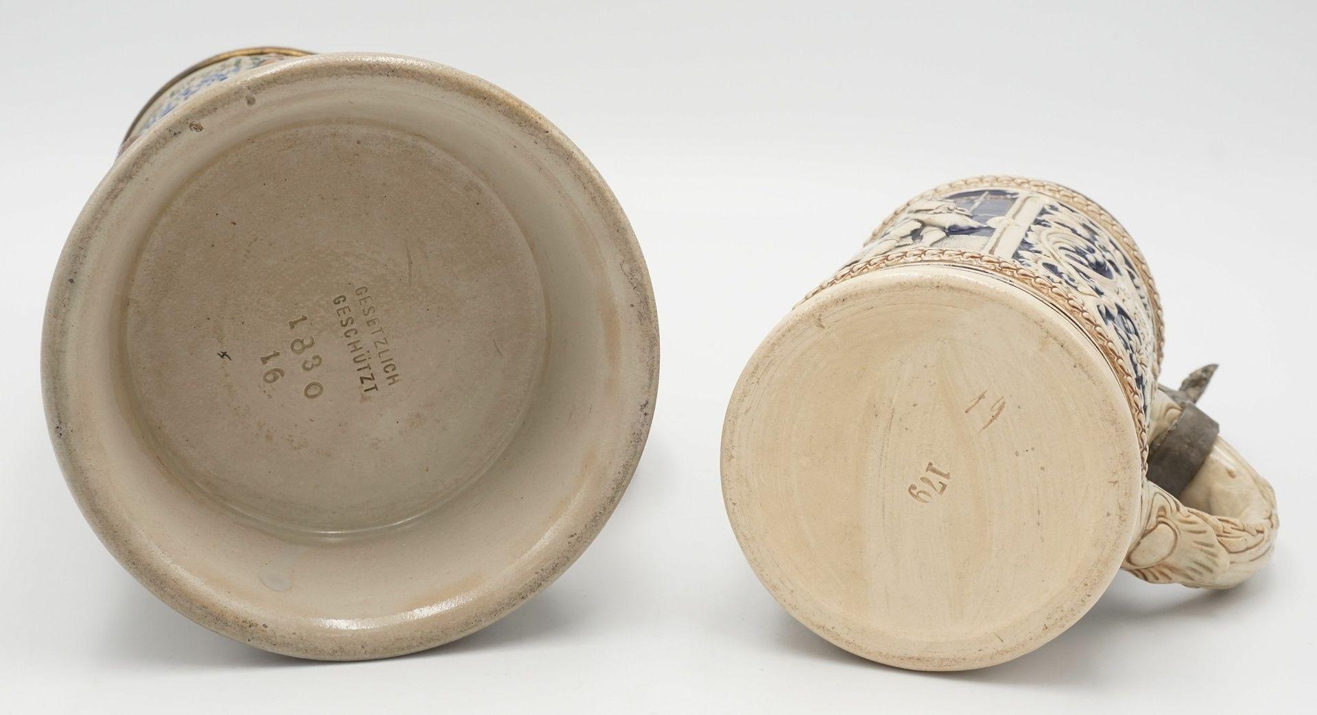 Zwei Bierkrüge, um 1900 - Bild 4 aus 4
