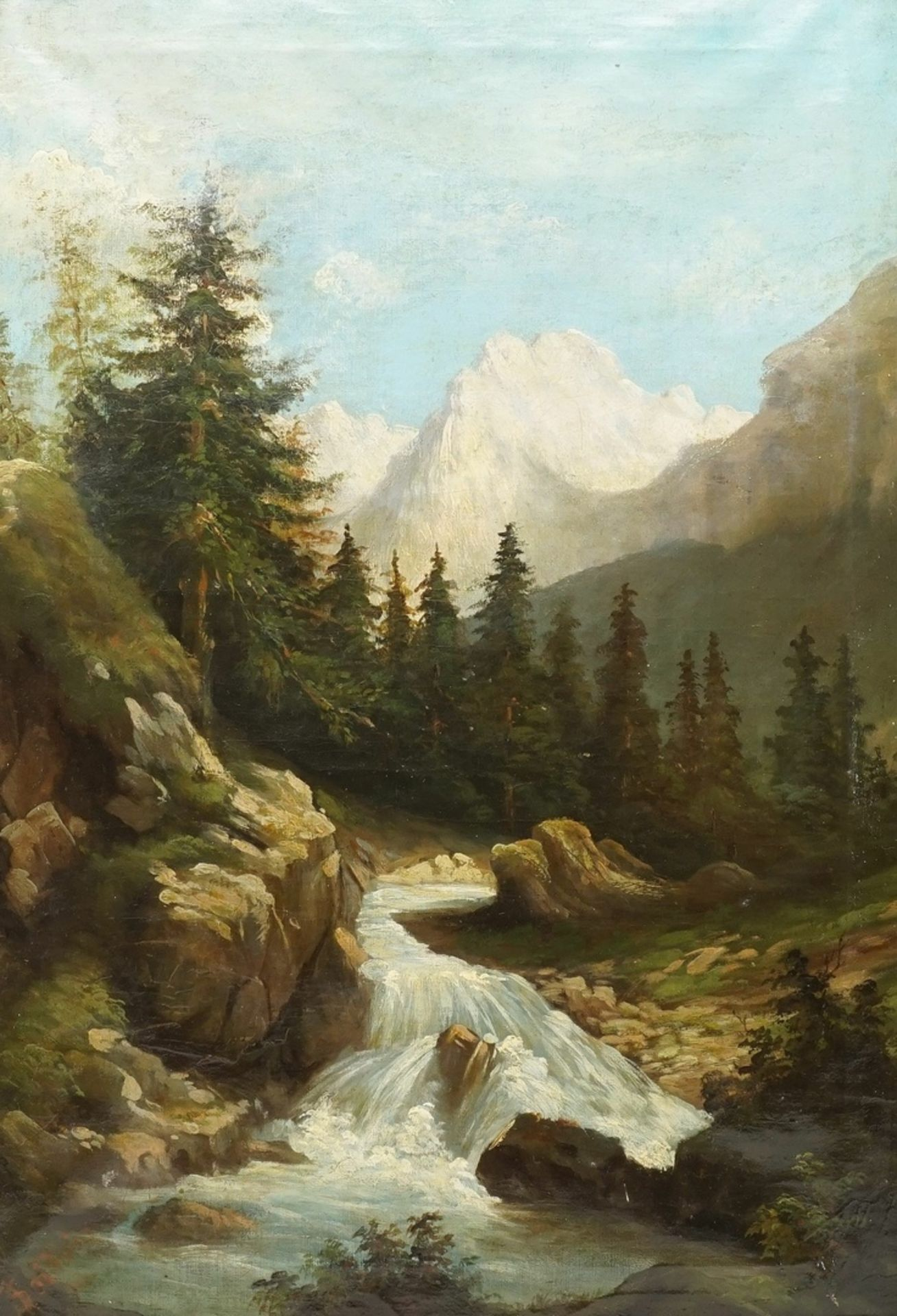 J. Seidlein, Alpenbach in den Dolomiten