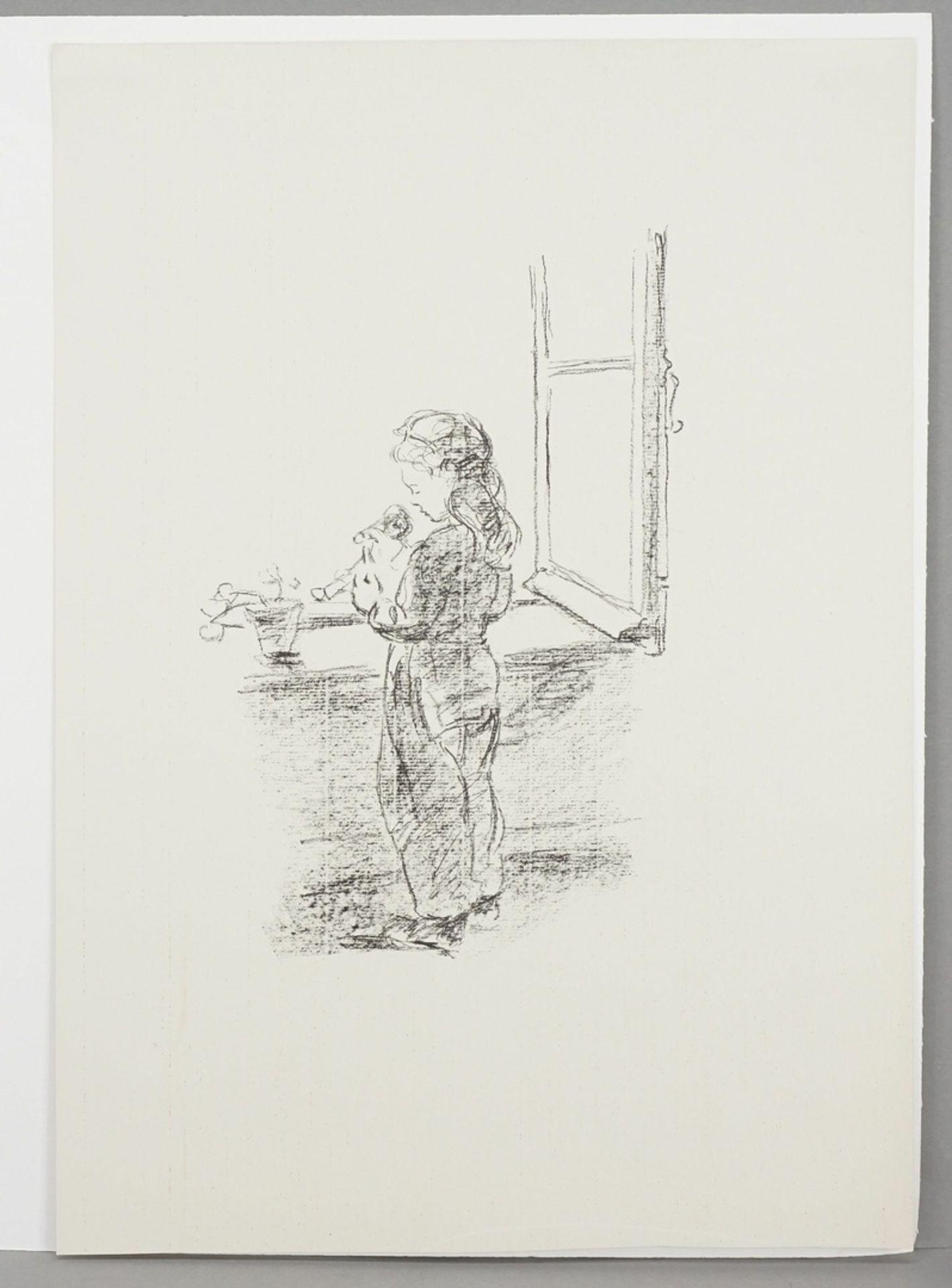 Robert Pudlich, Kleine Puppenmutter am Fenster - Bild 3 aus 3