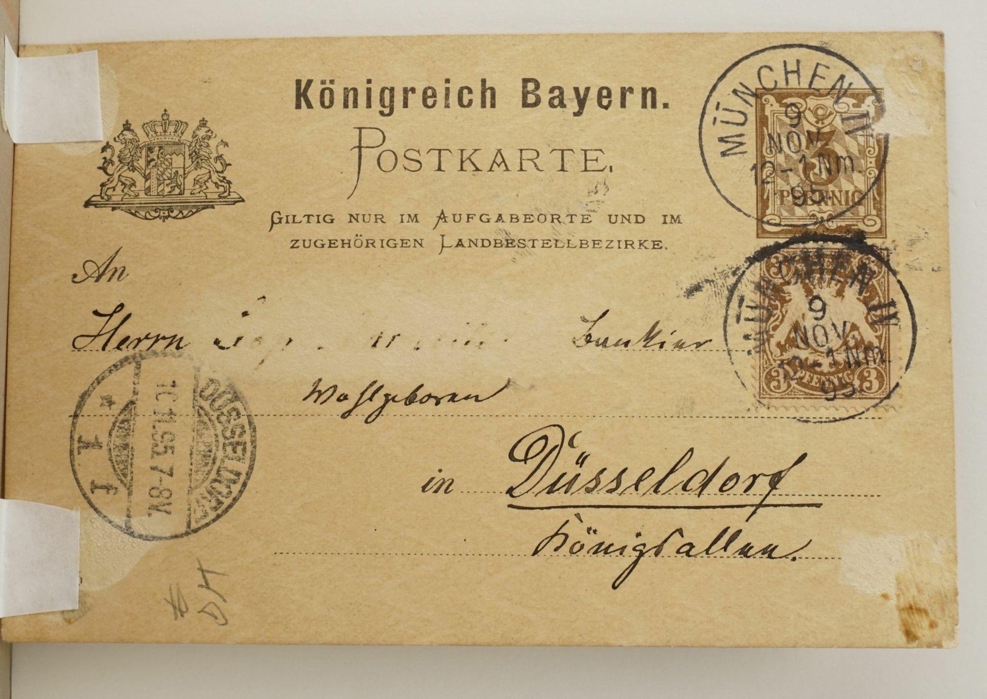 Leopold Otto Strützel, Glückwunschkarte - Bild 4 aus 4