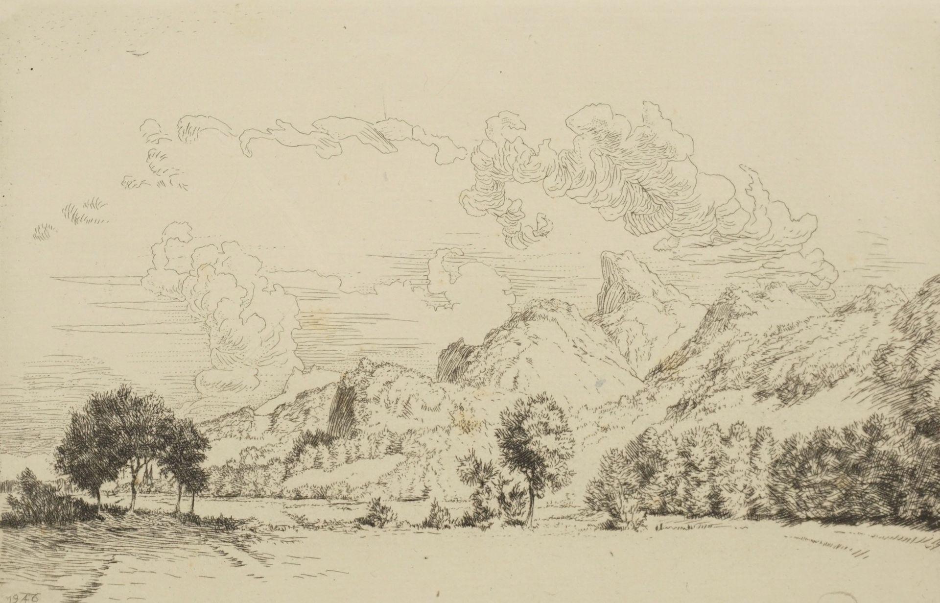 Harald Pickert, Gebirgige Landschaft mit Kirche