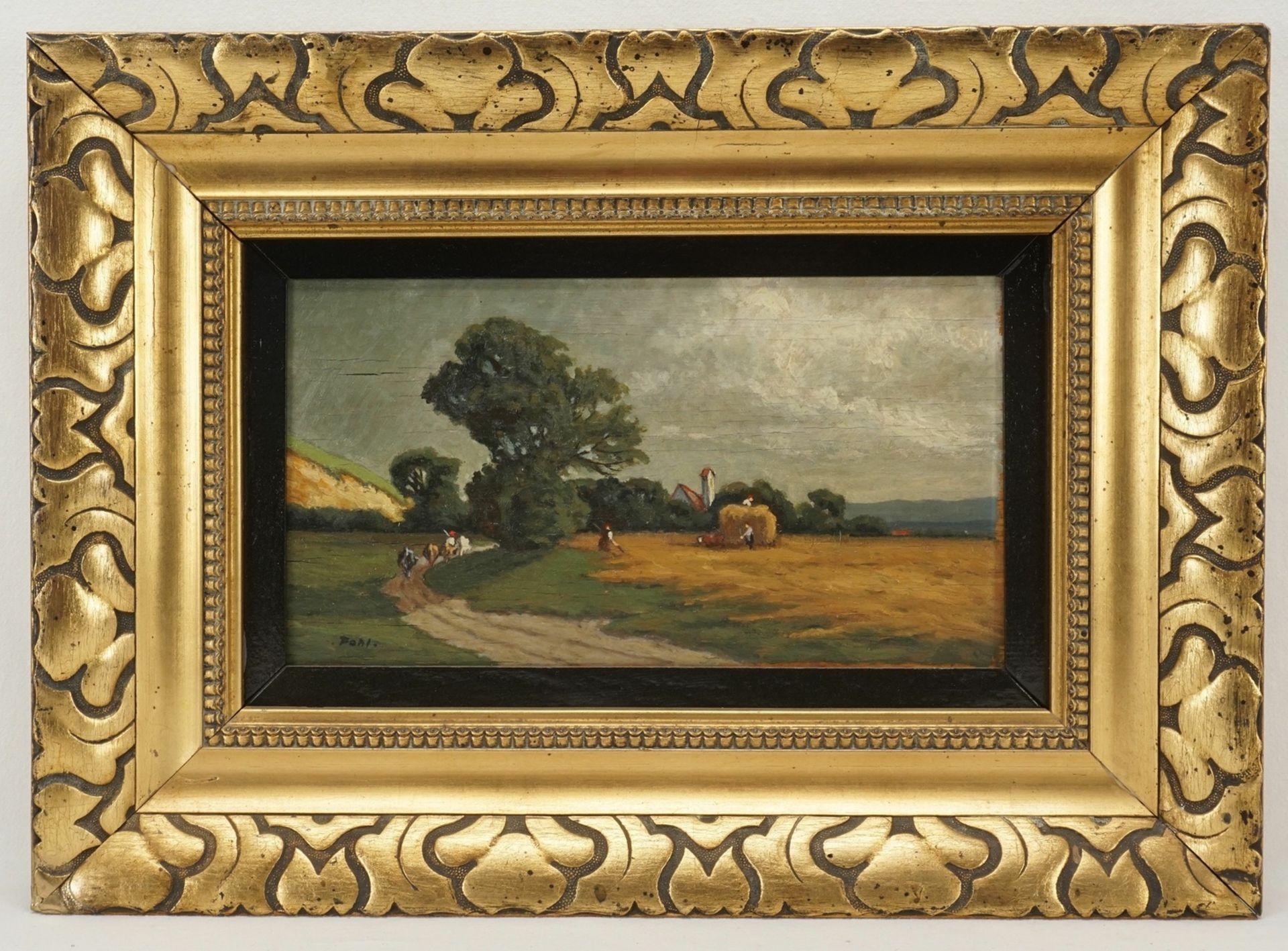 Pohl, Bei der Getreideernte