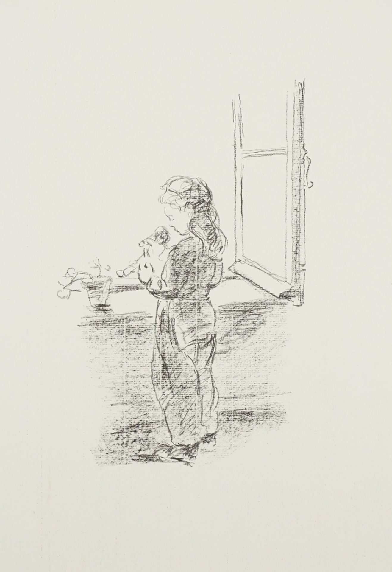 Robert Pudlich, Kleine Puppenmutter am Fenster