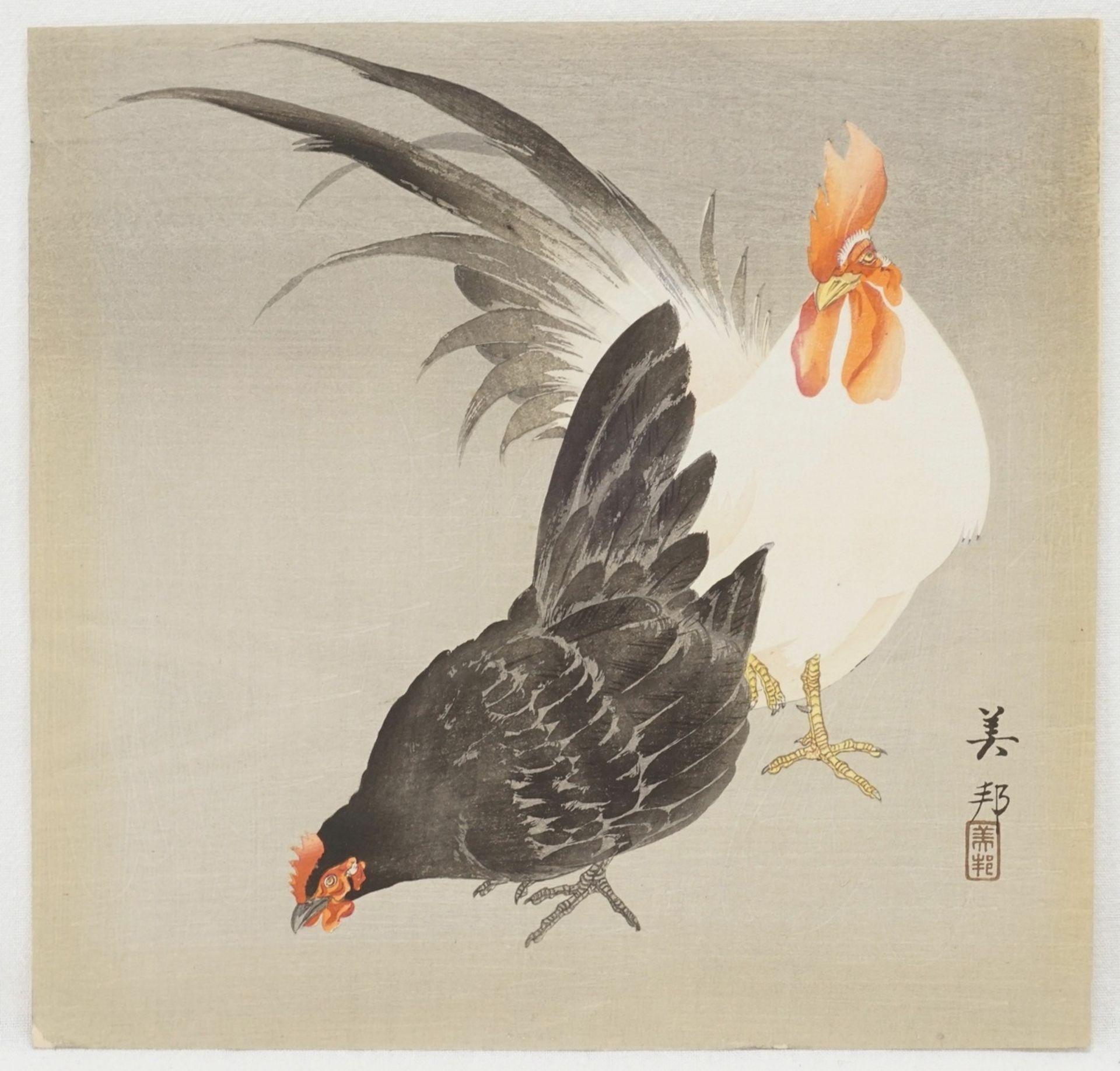 Konvolut Holzschnitte mit Vögeln - Bild 2 aus 4