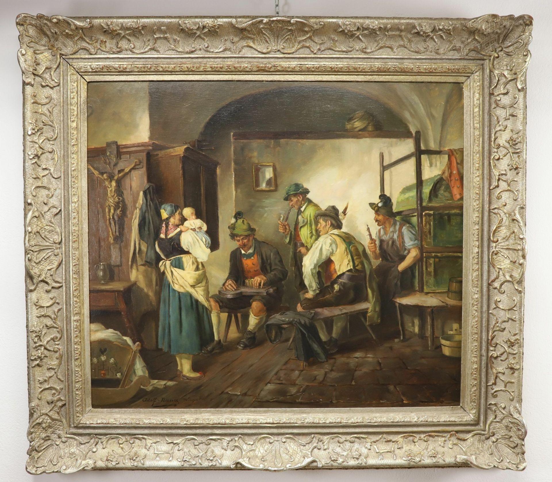 Adolf Nauer, Beim Zitherspiel - Bild 2 aus 4