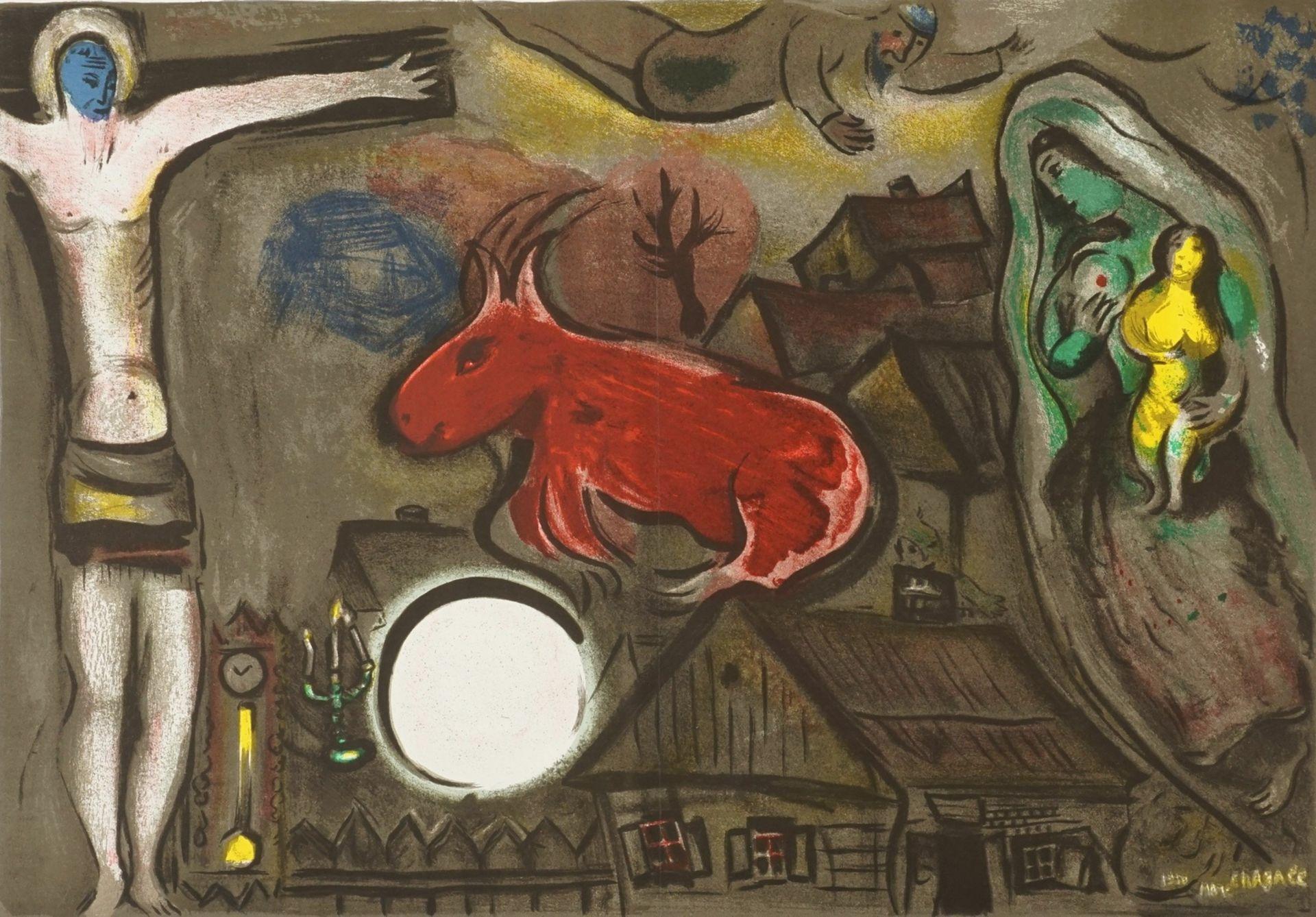 Marc Chagall, Vision mit roter Kuh