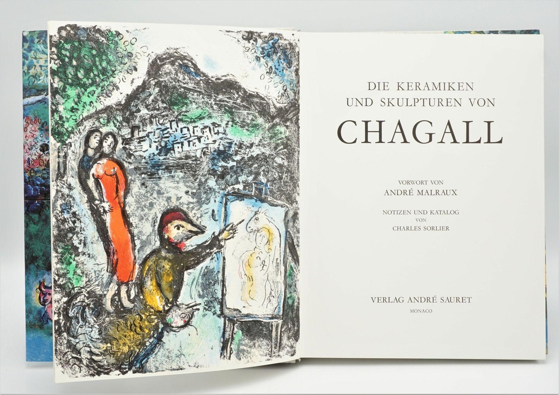 """Charles Sorlier, """"Die Keramiken und Skulpturen von Chagall"""", mit einer Originallithografie - Bild 2 aus 4"""