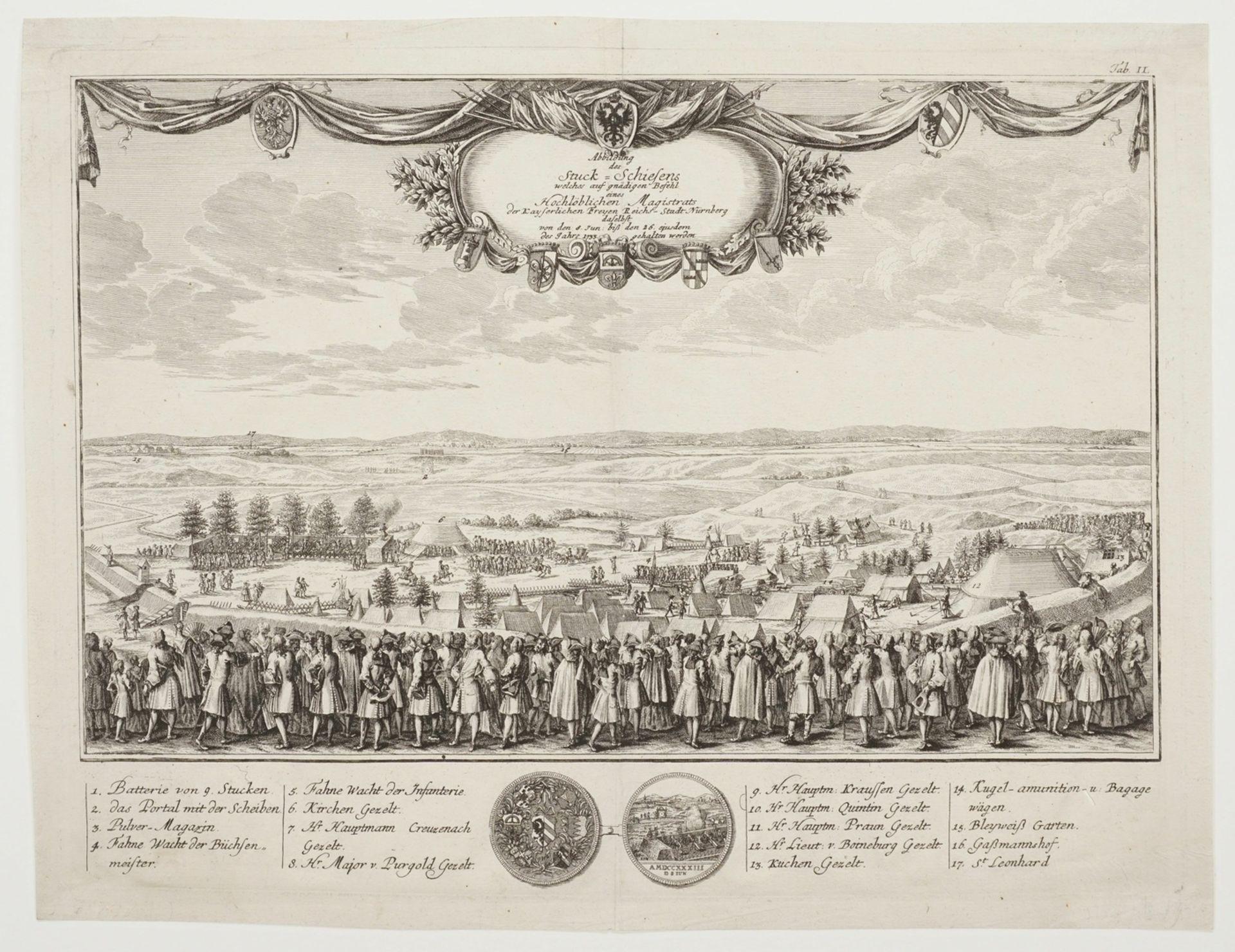 """Johann Christoph Weigel, """"Abbildung des Stuck-Schiesens welches auf gnädigen Befehl eines ... - Bild 3 aus 3"""