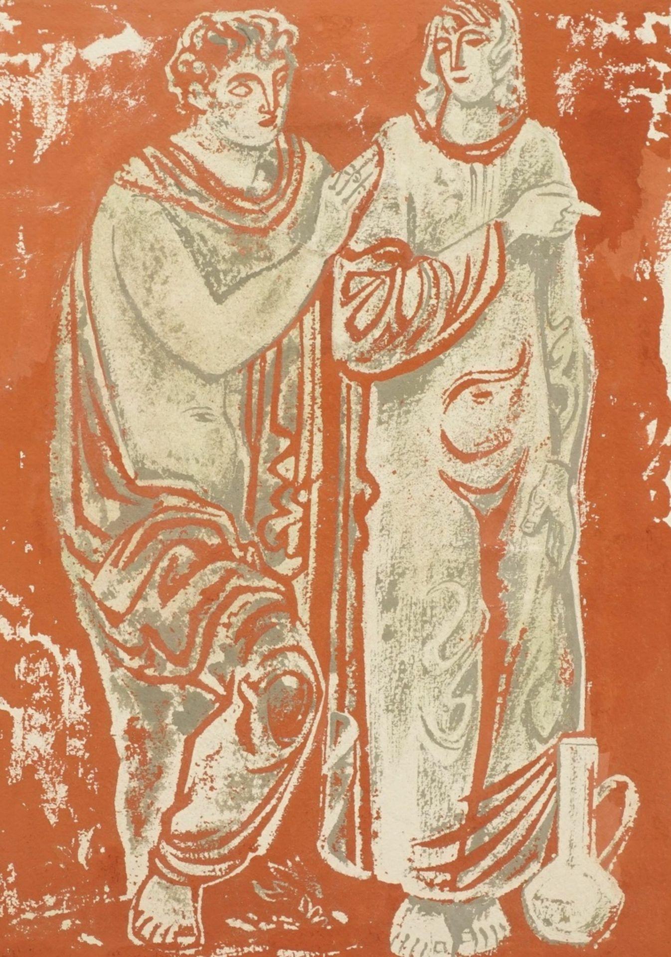 Richard Schwarzkopf, Figurenpaar mit Tonkrug (Isaak und Rebekka )
