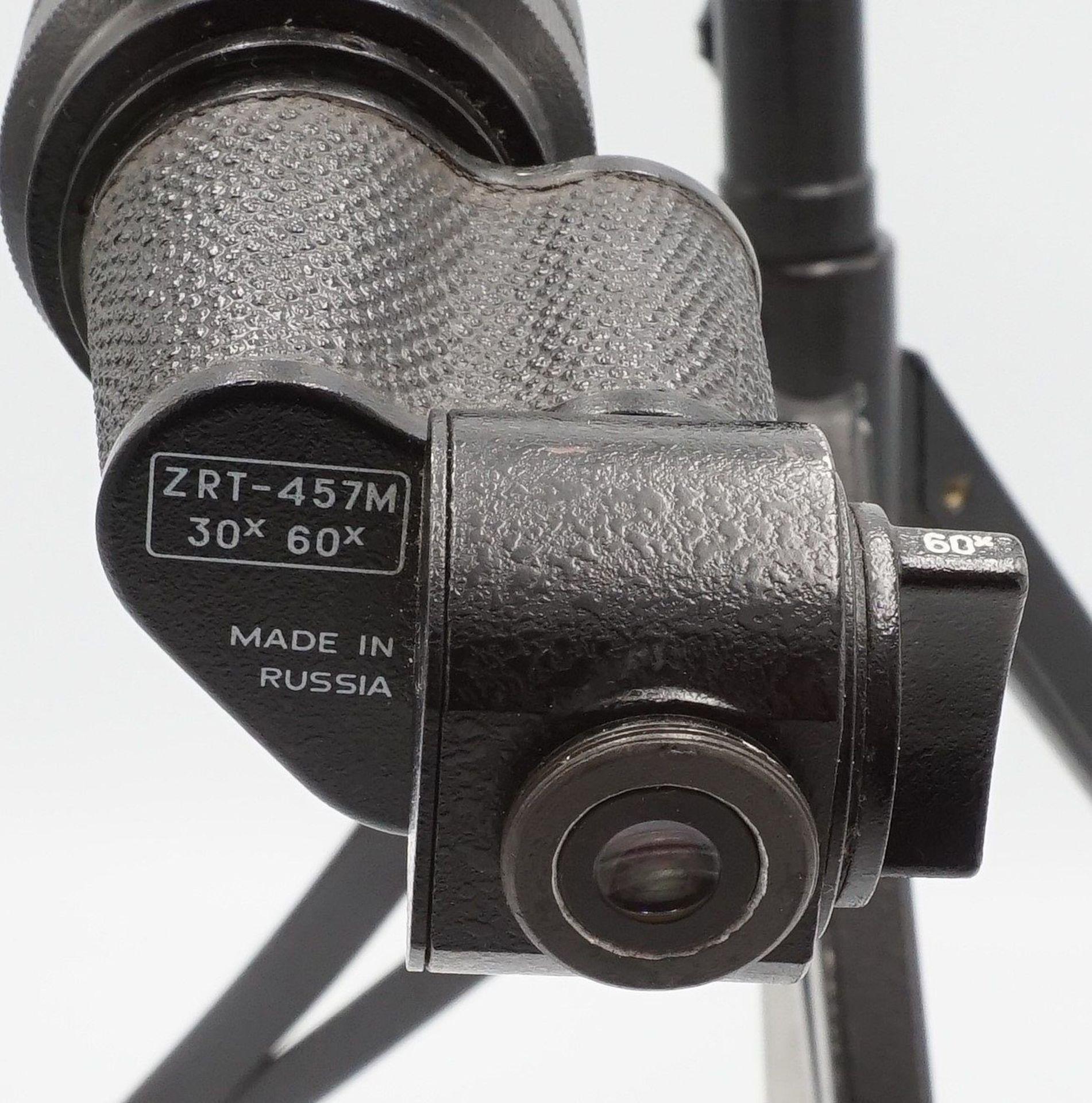 Russisches Spektiv ZRT-457M, 30x / 60x, mit Tasche, 2. Hälfte 20. Jh. - Bild 4 aus 5