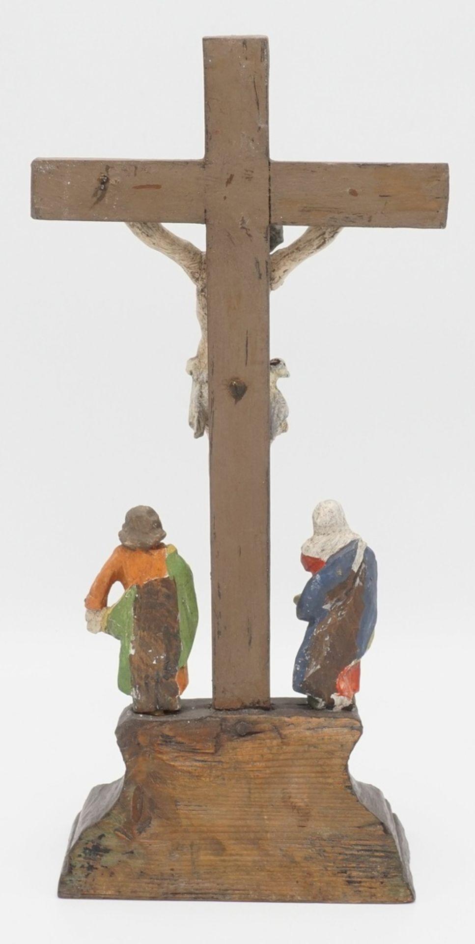 Jesus am Kreuz / Kreuzigungsgruppe - Bild 2 aus 2