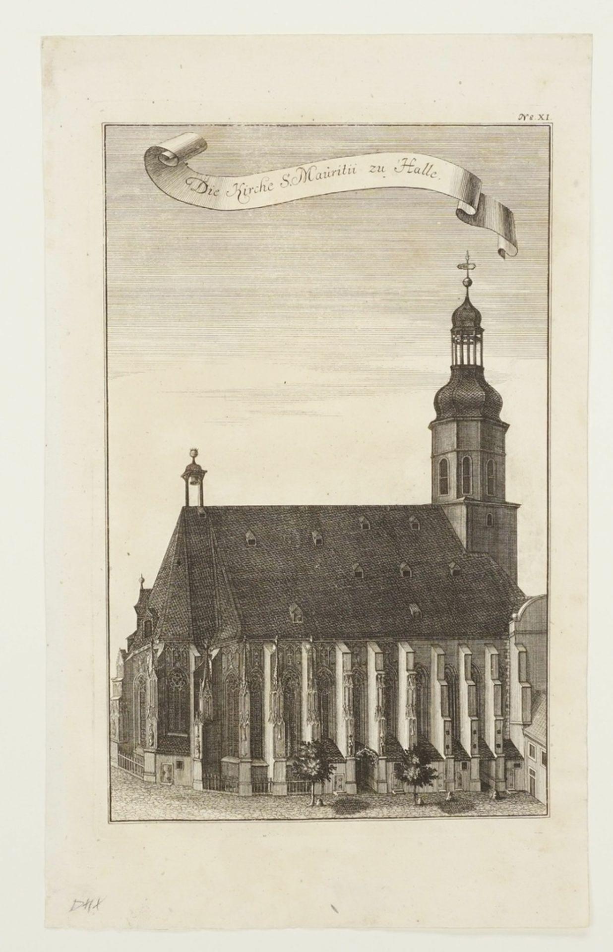Johann Gottfried Krügner der Jüngere, Drei herausragende Bauwerke der Stadt Halle/Saale - Bild 2 aus 4