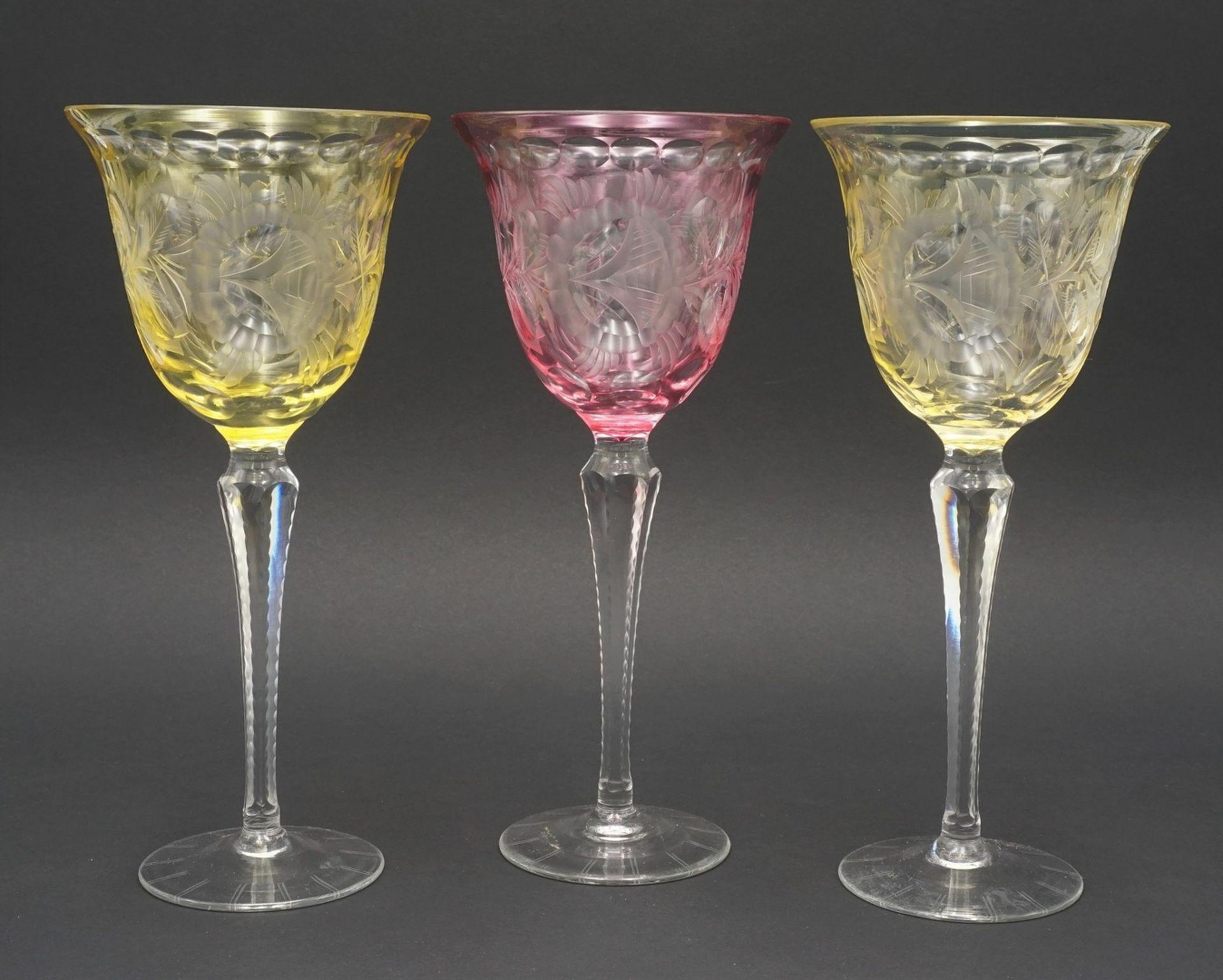Zehn Weingläser / Römer - Bild 3 aus 5