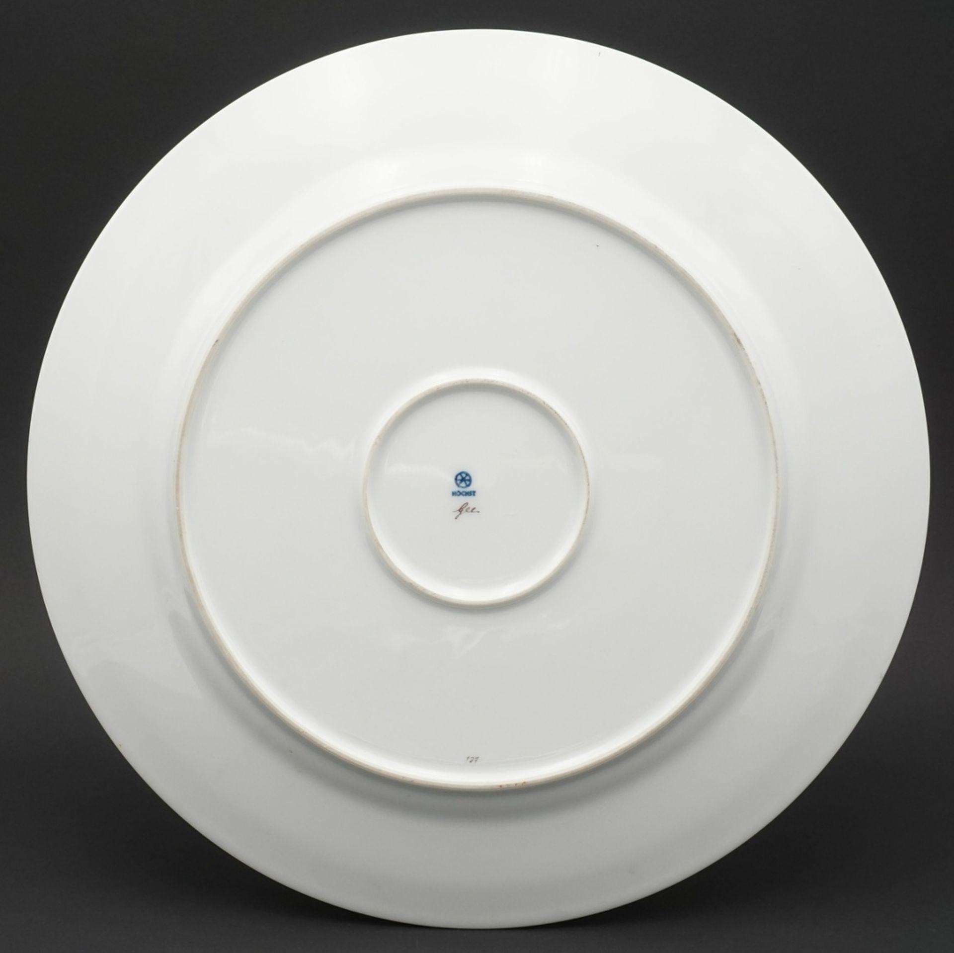 Höchster Porzellanmanufaktur Große Jagdplatte - Bild 3 aus 3